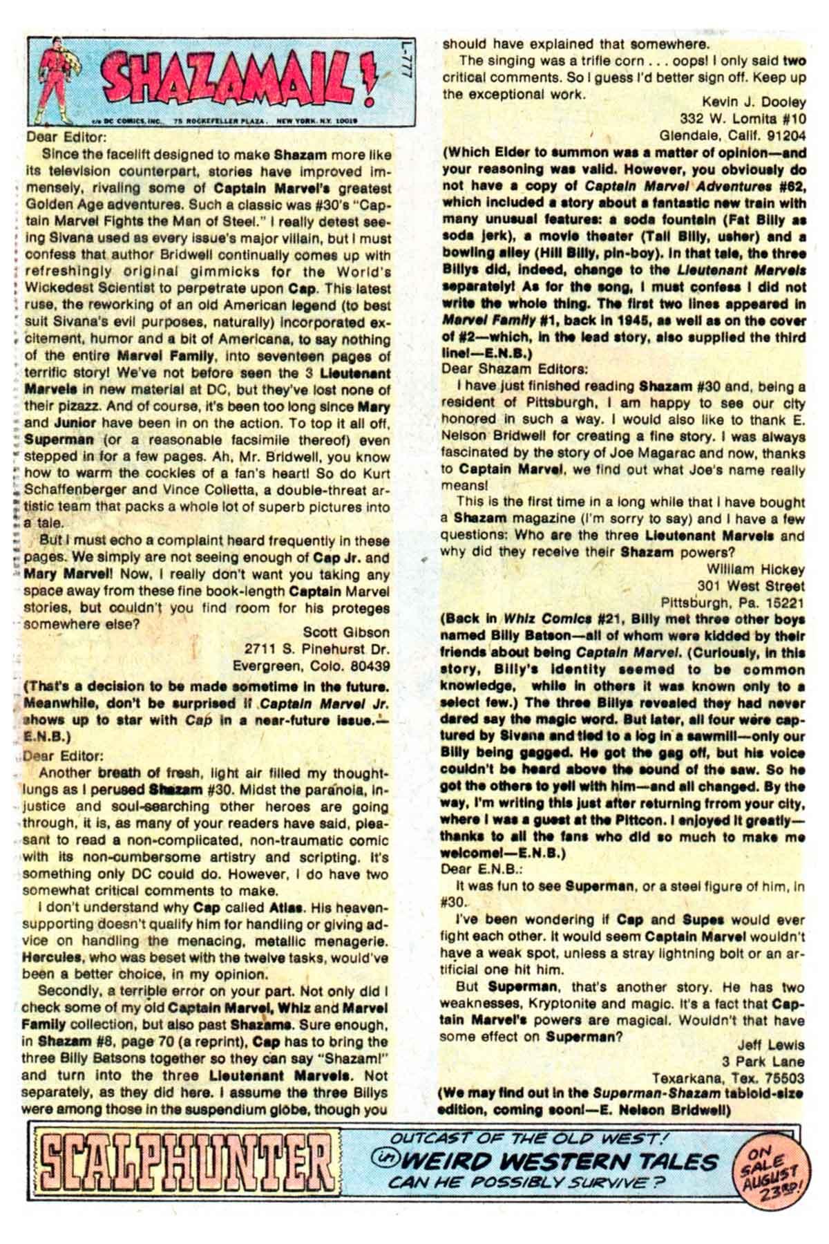 Read online Shazam! (1973) comic -  Issue #32 - 19