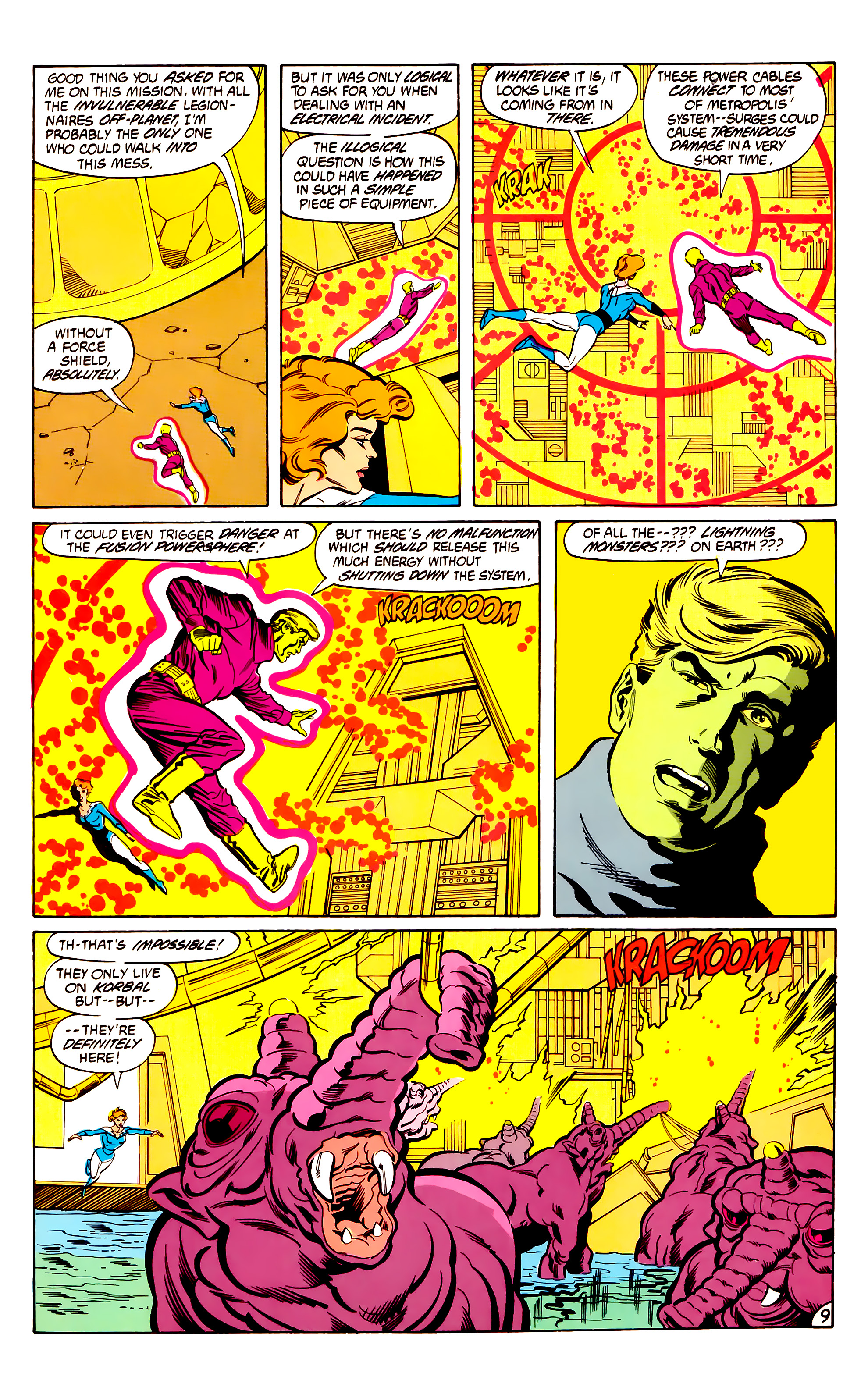 Legion of Super-Heroes (1984) 30 Page 9