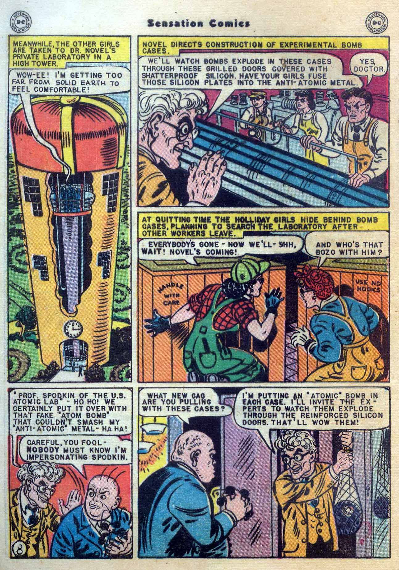Read online Sensation (Mystery) Comics comic -  Issue #56 - 10