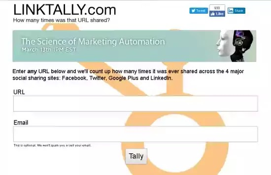 linktally shared url social media