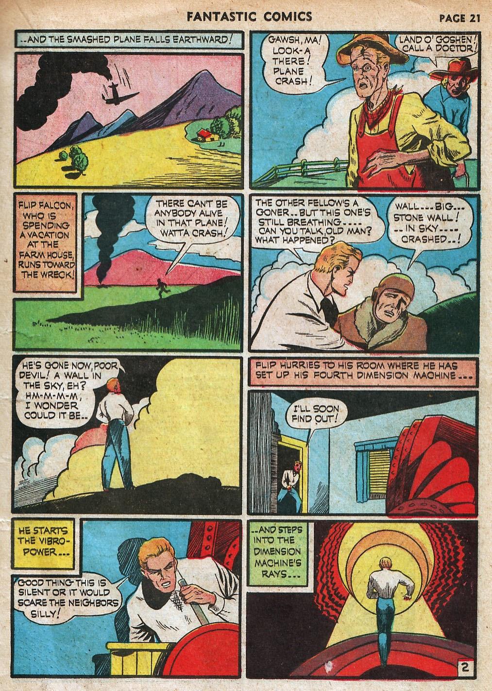 Read online Fantastic Comics comic -  Issue #18 - 23