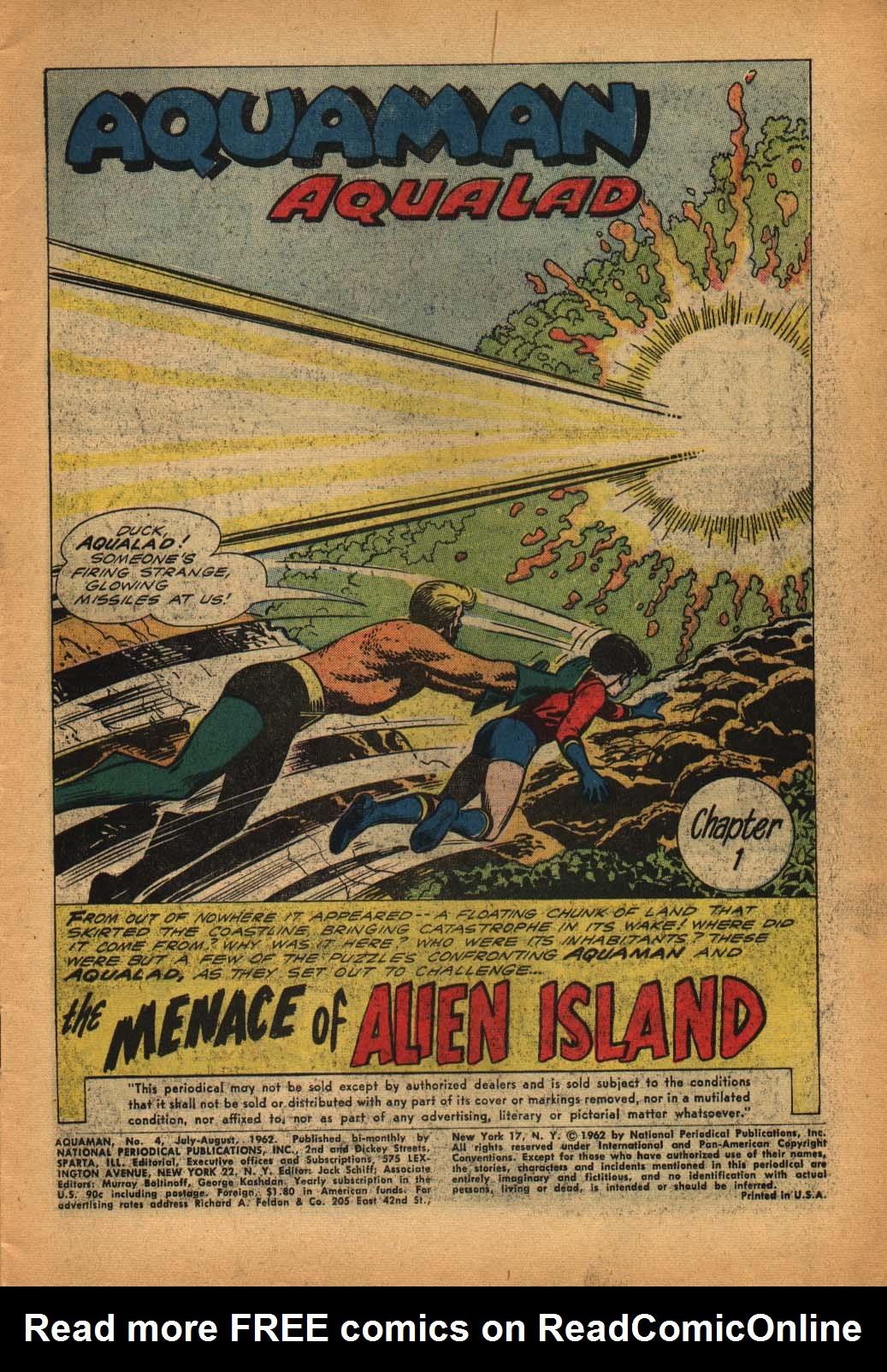 Read online Aquaman (1962) comic -  Issue #4 - 3