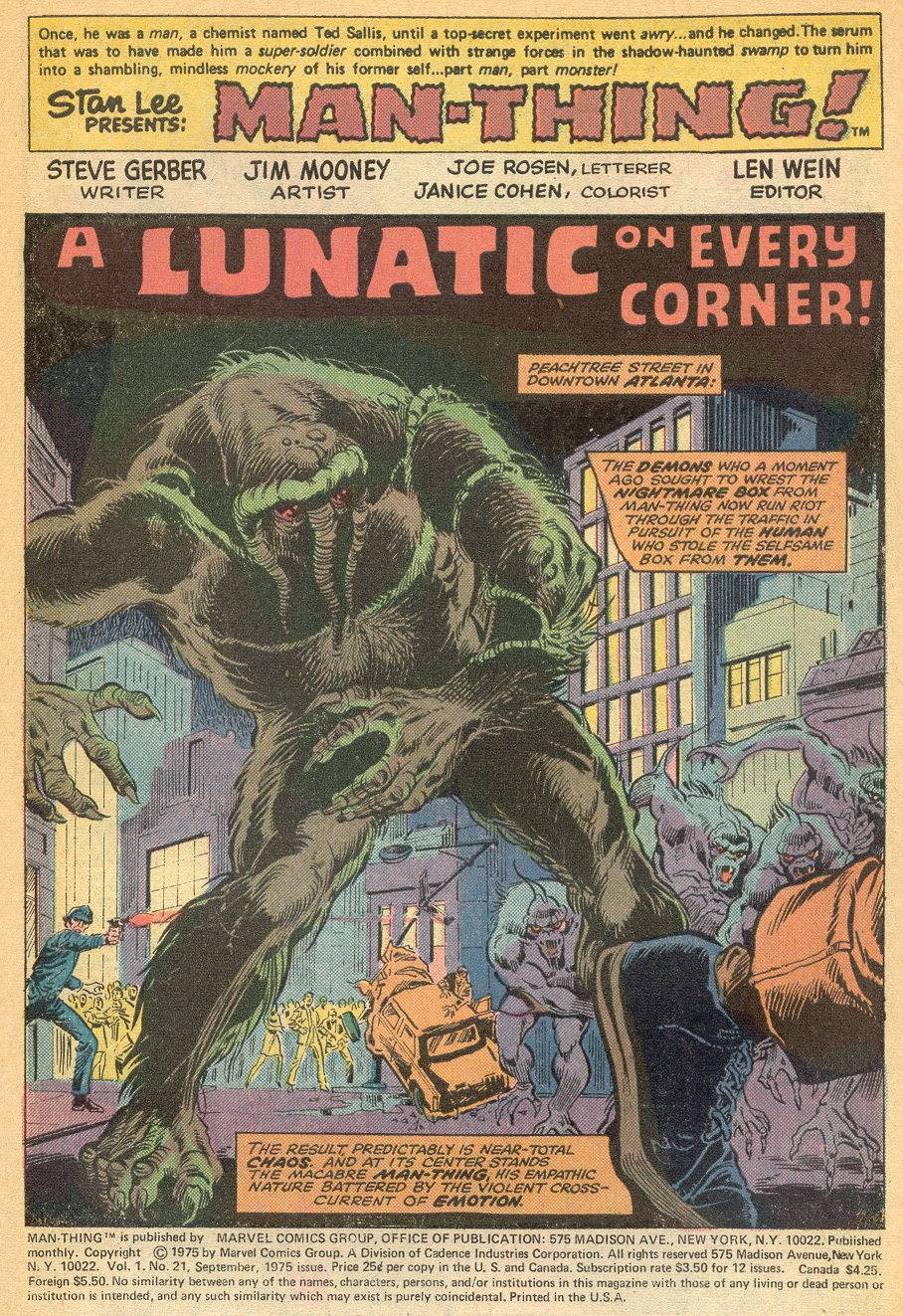 Man-Thing (1974) issue 21 - Page 2