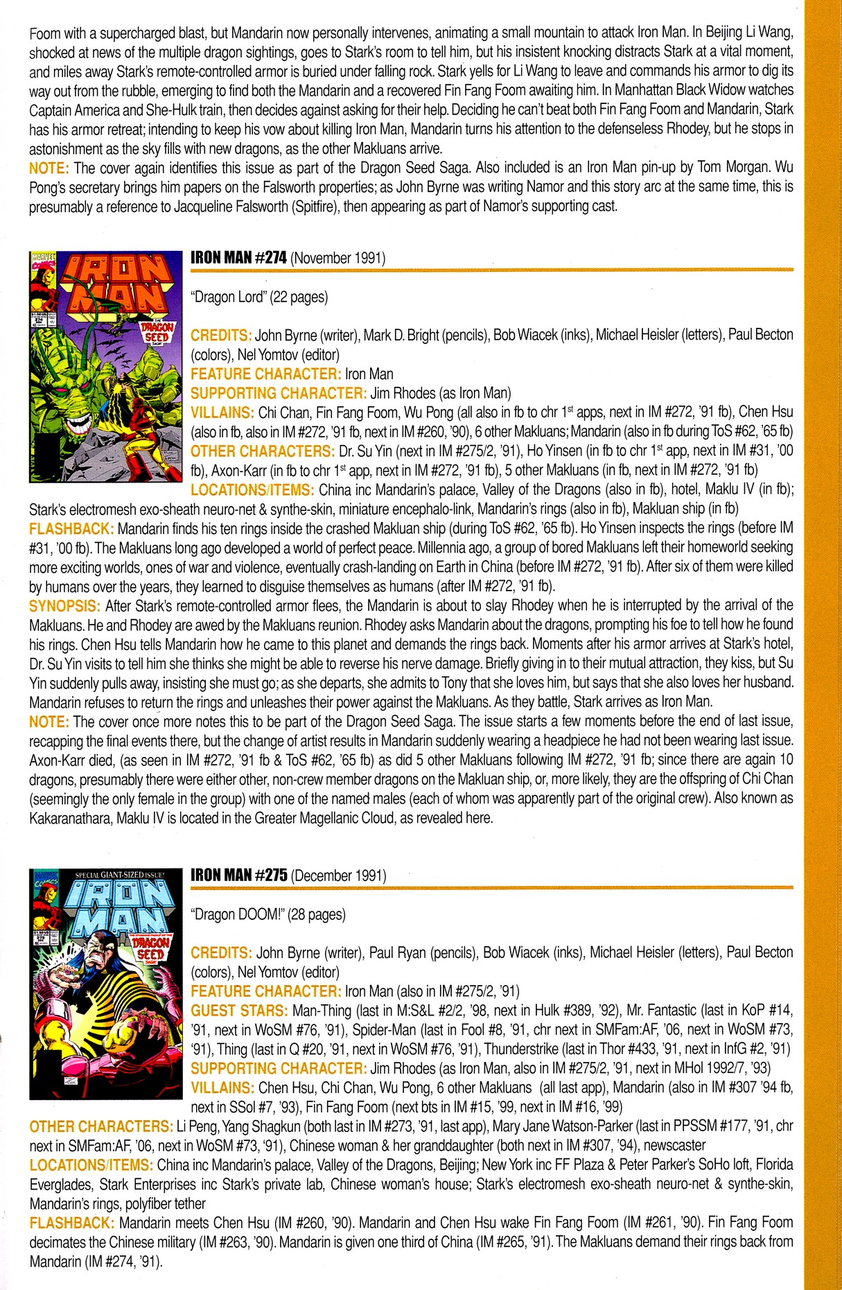 Read online Official Index to the Marvel Universe comic -  Issue #8 - 31