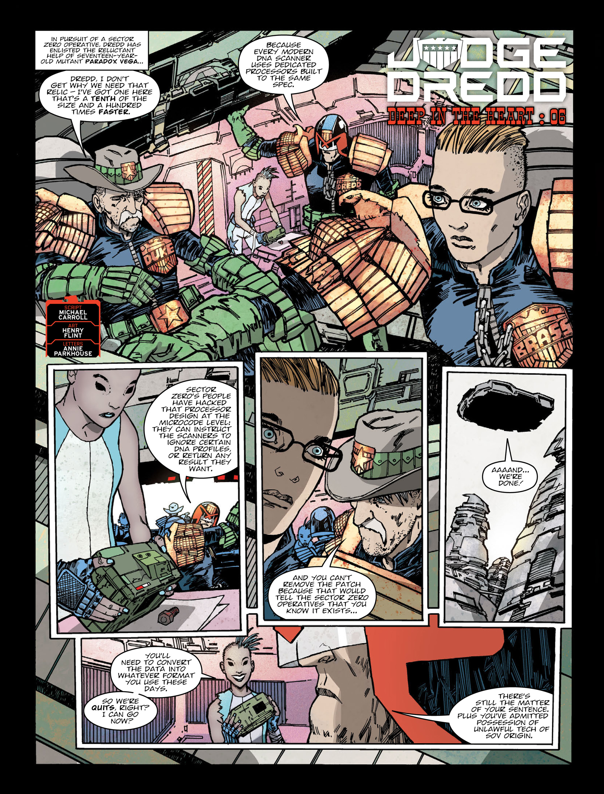 Read online 2000 AD comic -  Issue #2017 - 3