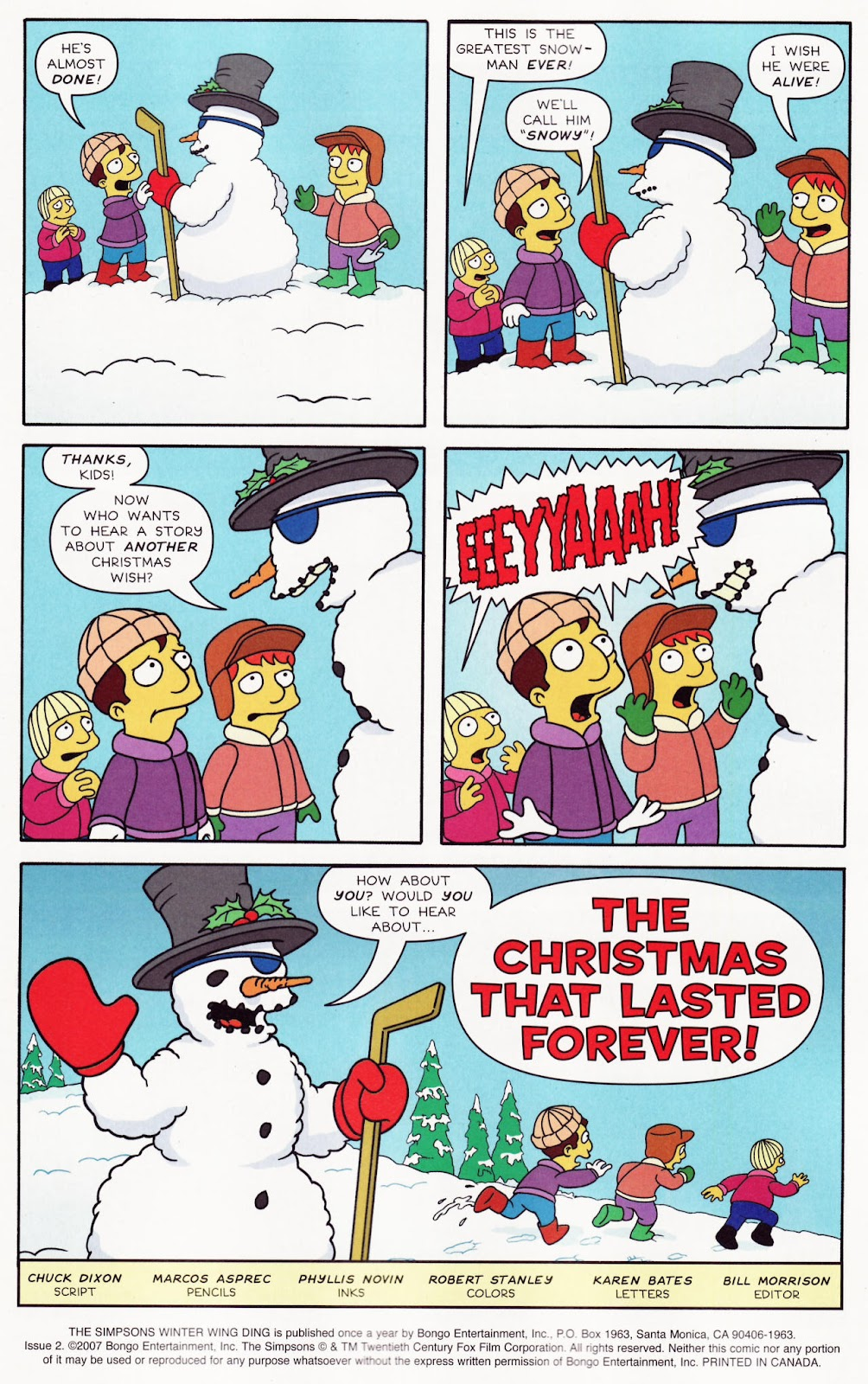 Read online The Simpsons Winter Wingding comic -  Issue #2 - 3