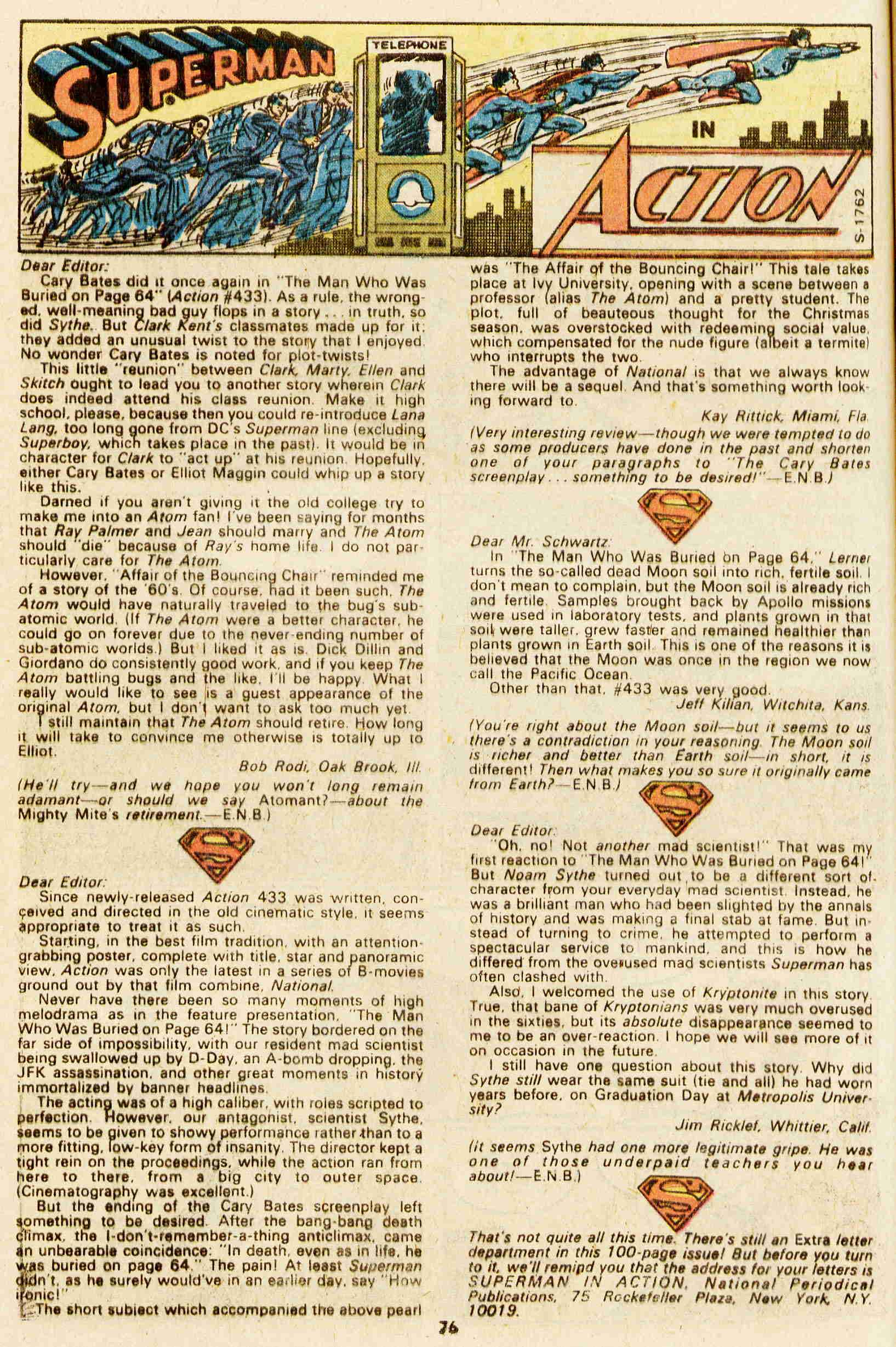Read online Action Comics (1938) comic -  Issue #437 - 64