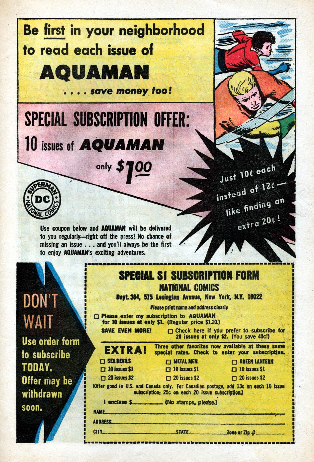 Read online Aquaman (1962) comic -  Issue #15 - 23