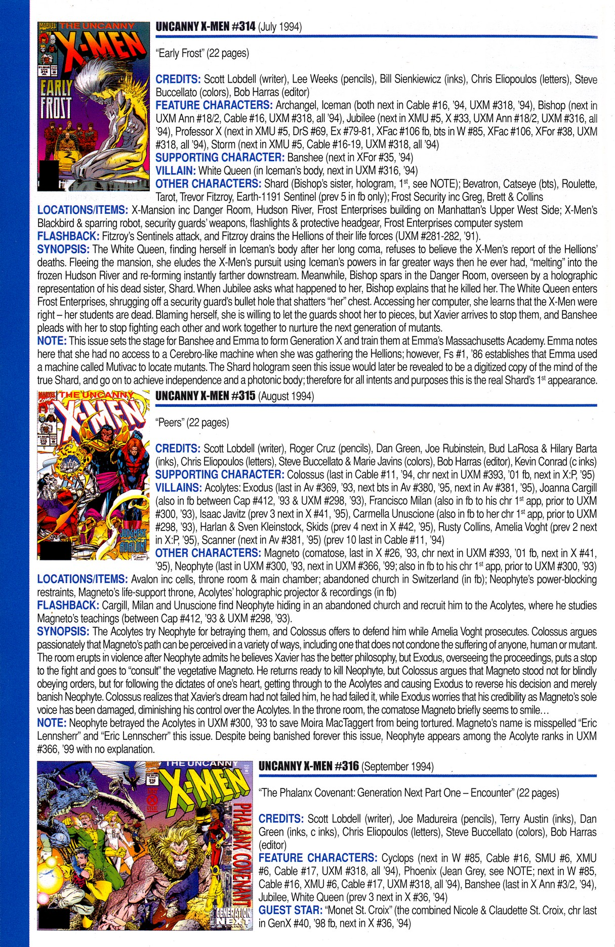 Read online Official Index to the Marvel Universe comic -  Issue #8 - 52
