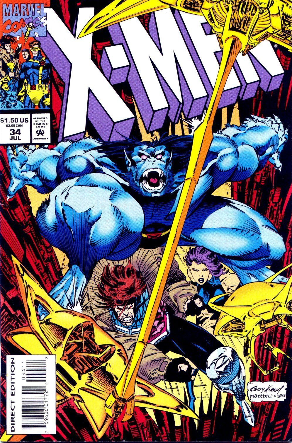 X-Men (1991) 34 Page 0