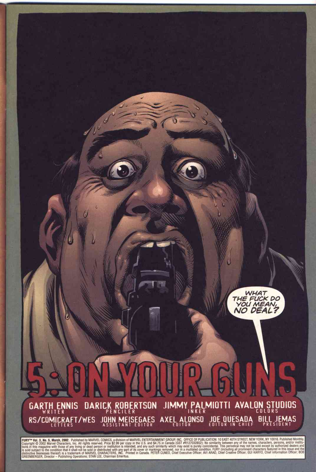 Read online Fury comic -  Issue #5 - 2