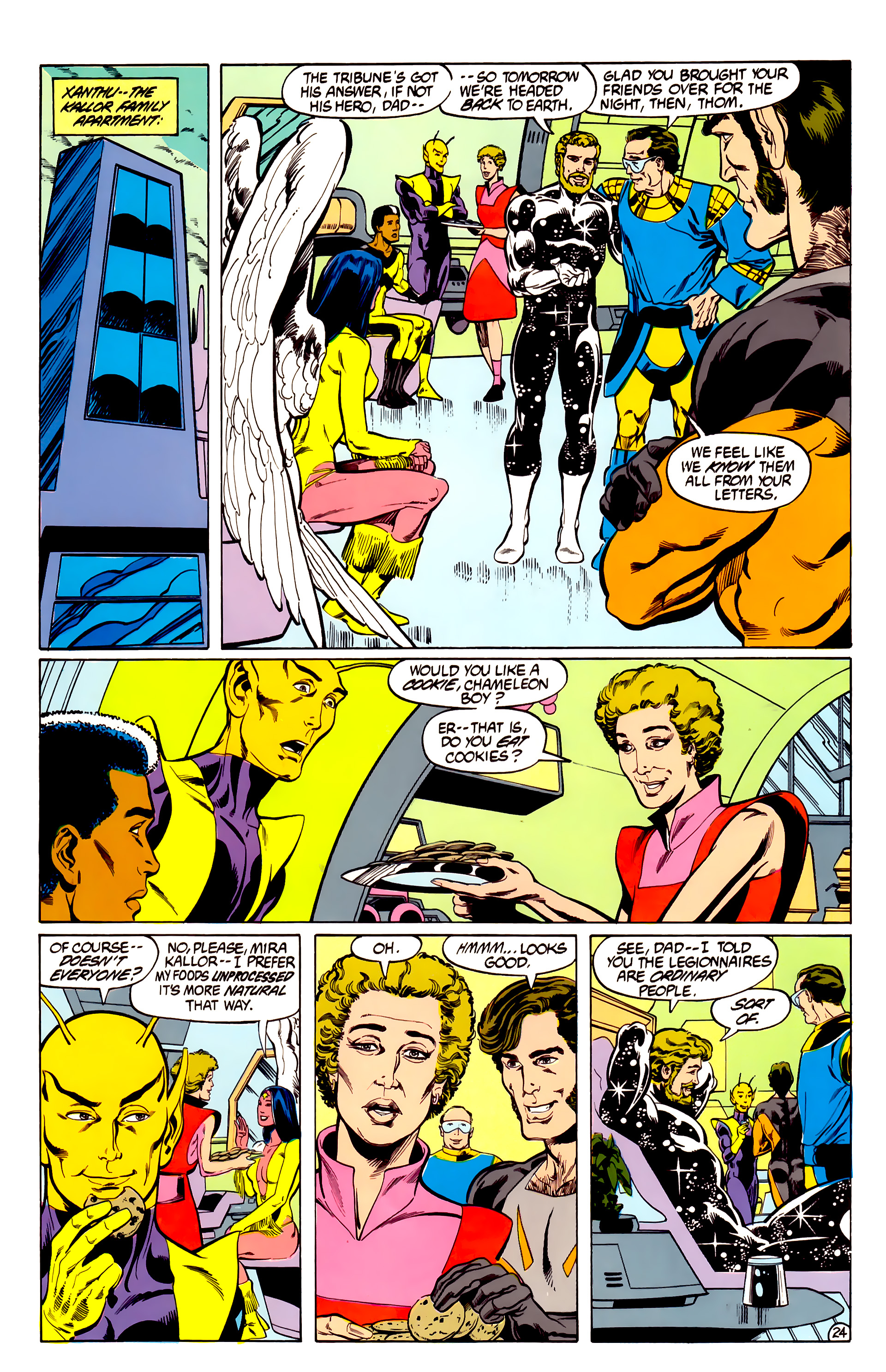 Legion of Super-Heroes (1984) 28 Page 25