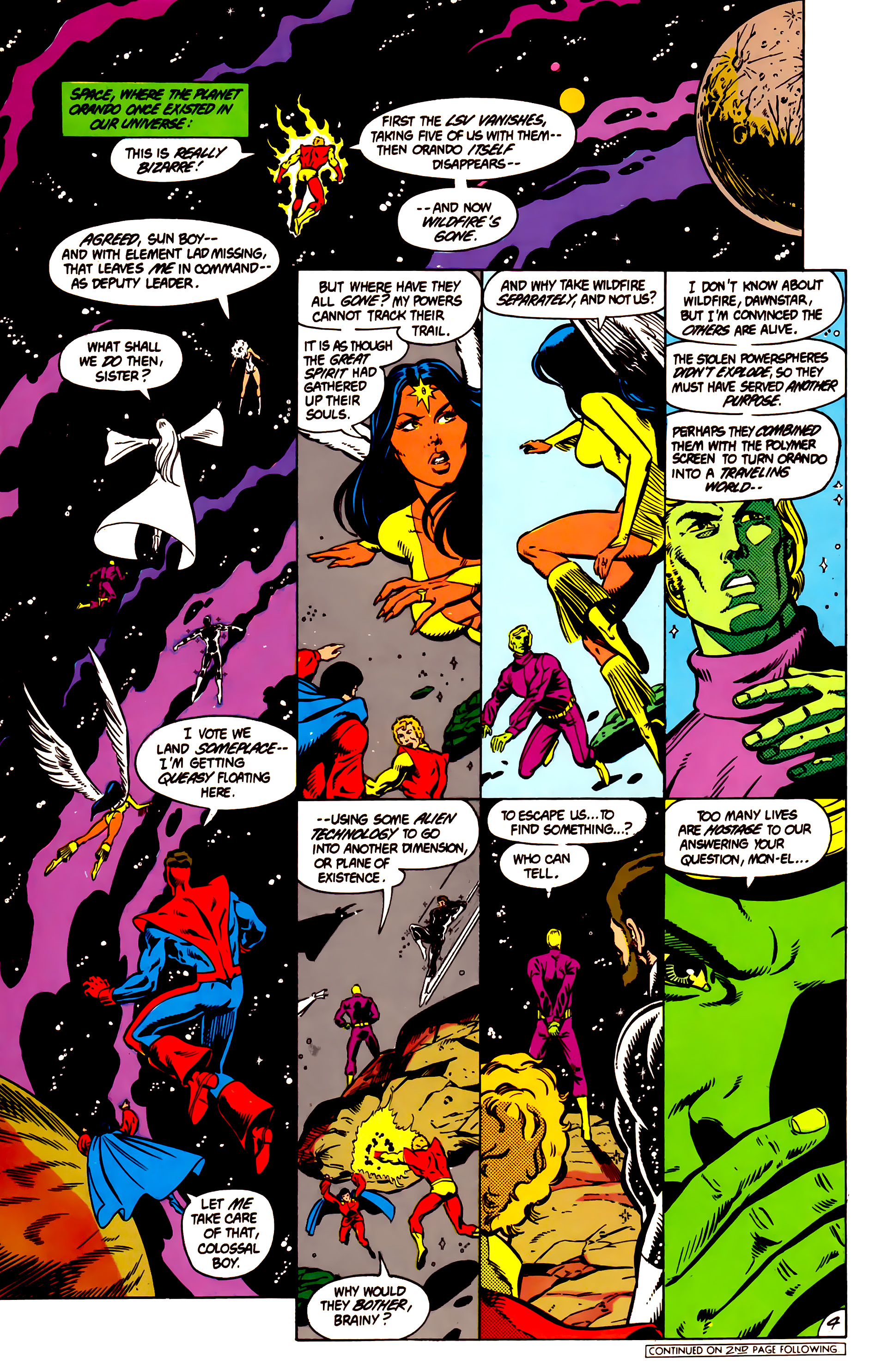 Legion of Super-Heroes (1984) 4 Page 5