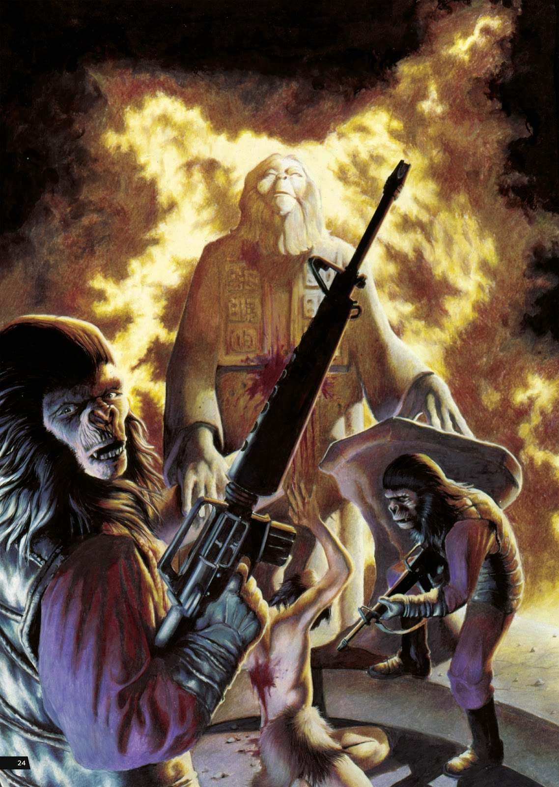 Read online Planet of the Apes Artist Tribute comic -  Issue # TPB - 24
