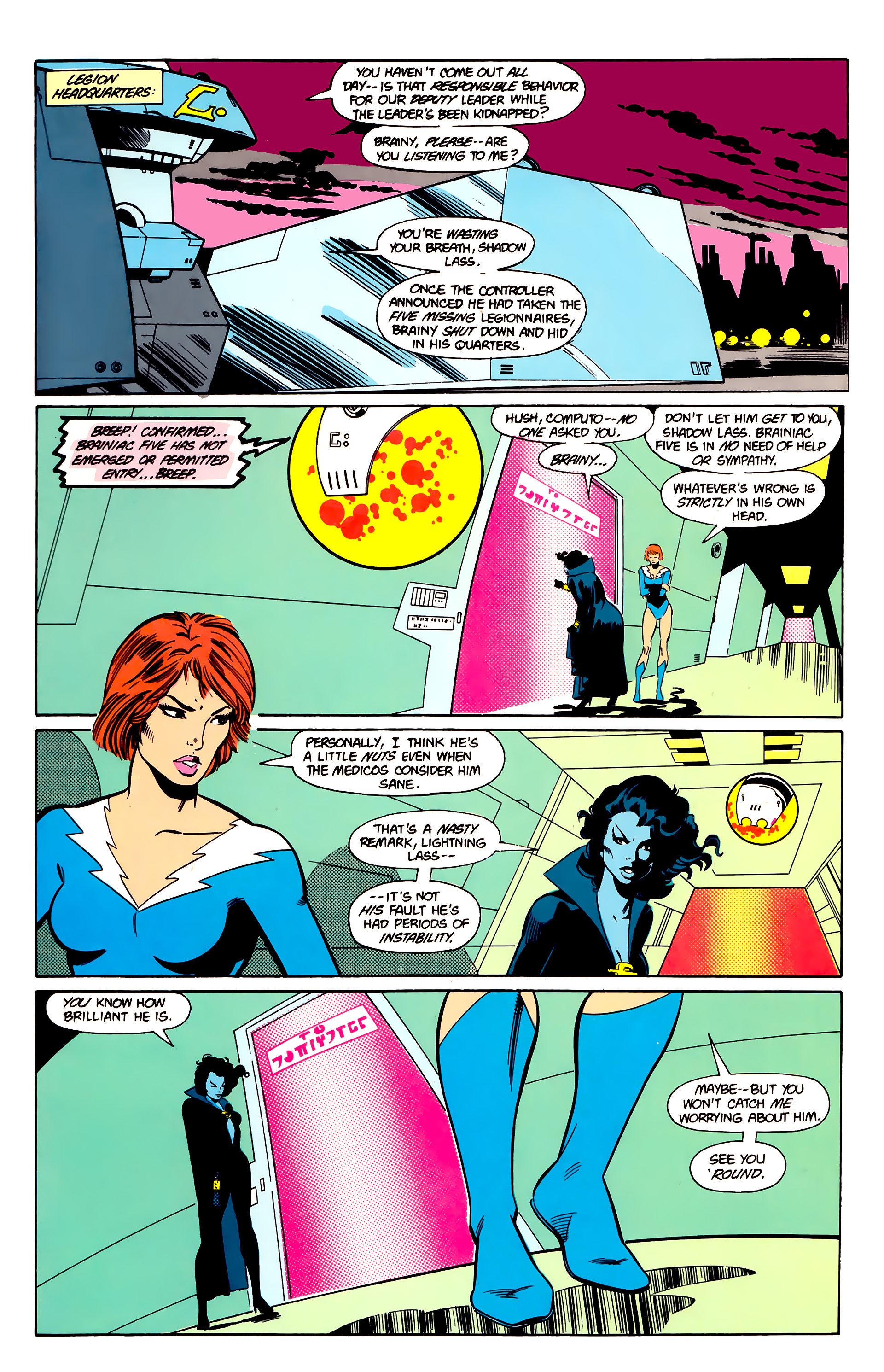 Legion of Super-Heroes (1984) 20 Page 12