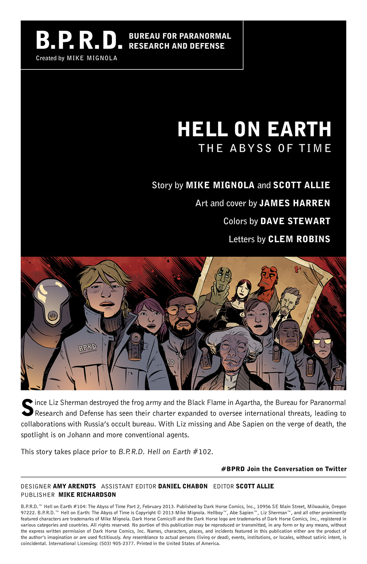 Read online B.P.R.D. Hell on Earth: The Abyss of Time comic -  Issue #104 - 2