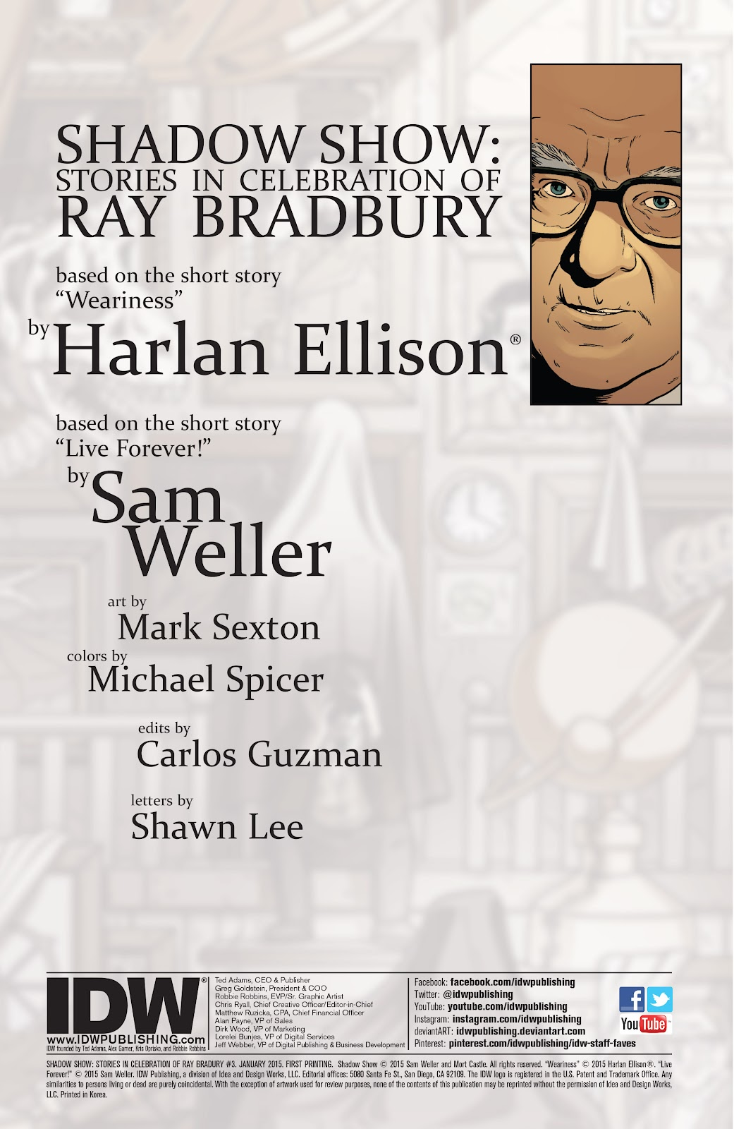 Read online Shadow Show: Stories in Celebration of Ray Bradbury comic -  Issue #3 - 2