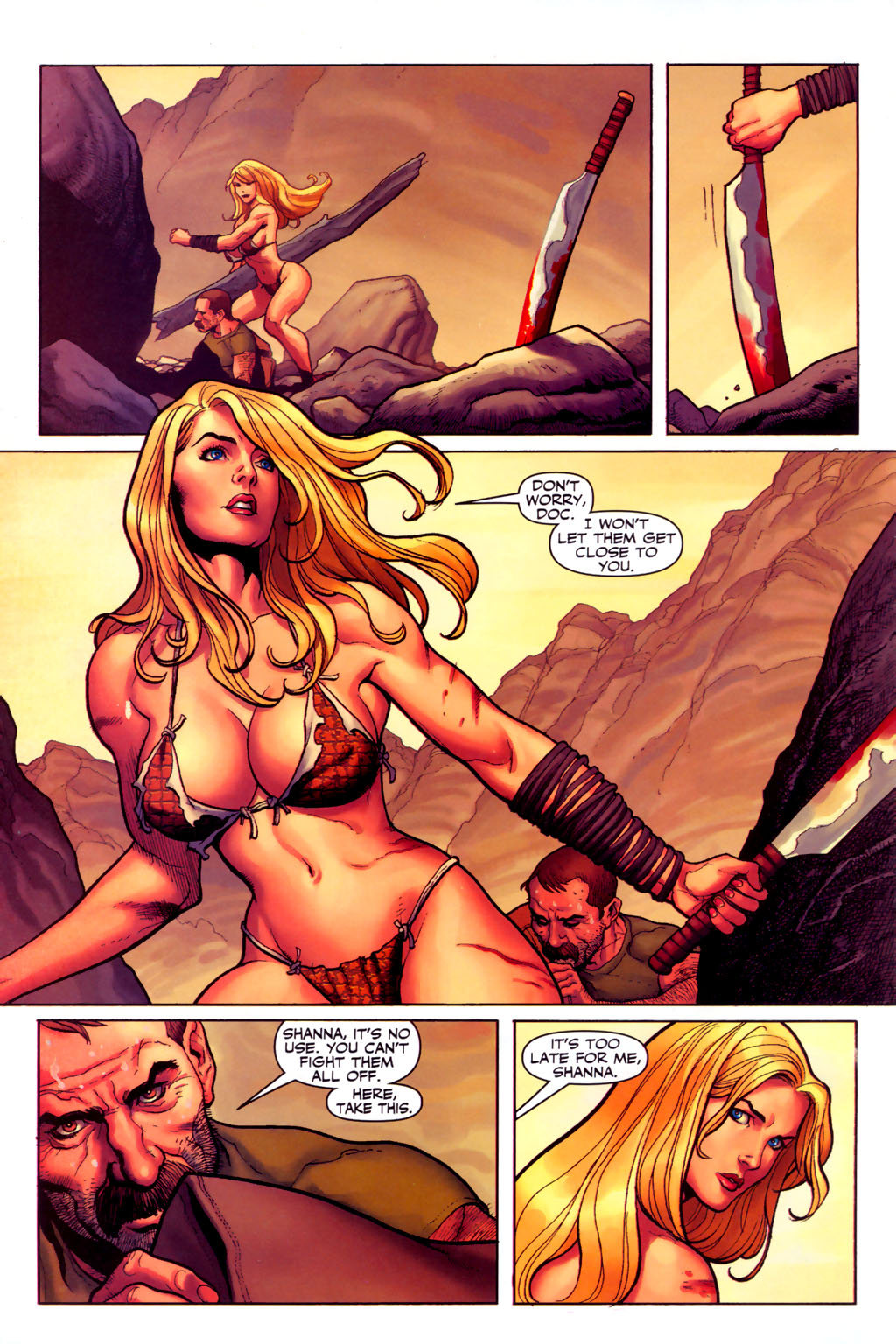 Read online Shanna, the She-Devil (2005) comic -  Issue #6 - 20