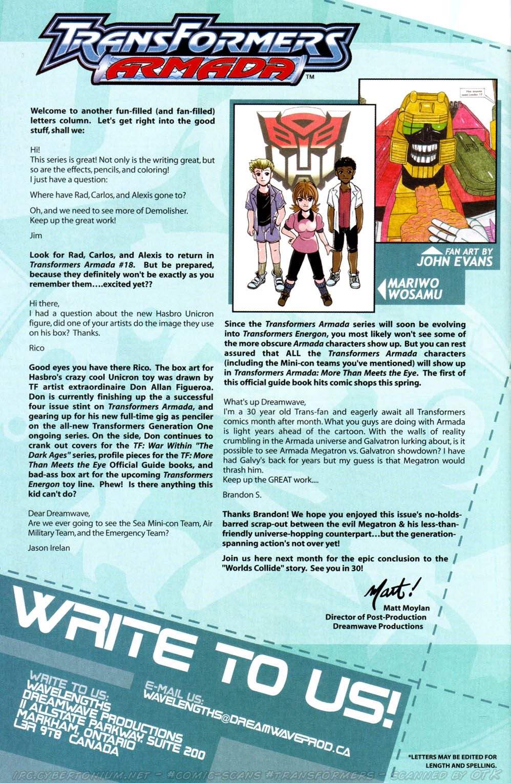 Read online Transformers Armada comic -  Issue #16 - 28