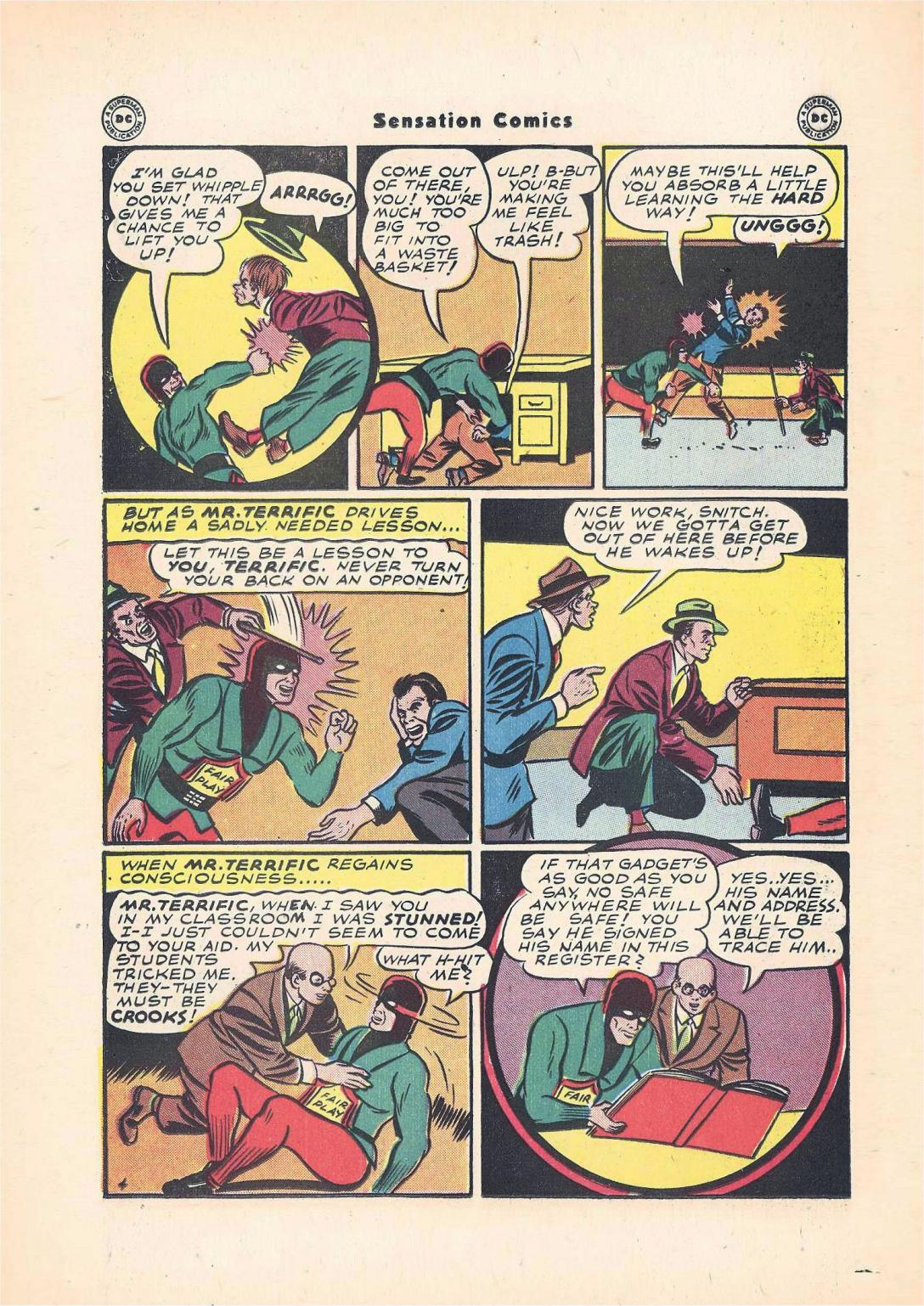 Read online Sensation (Mystery) Comics comic -  Issue #55 - 38