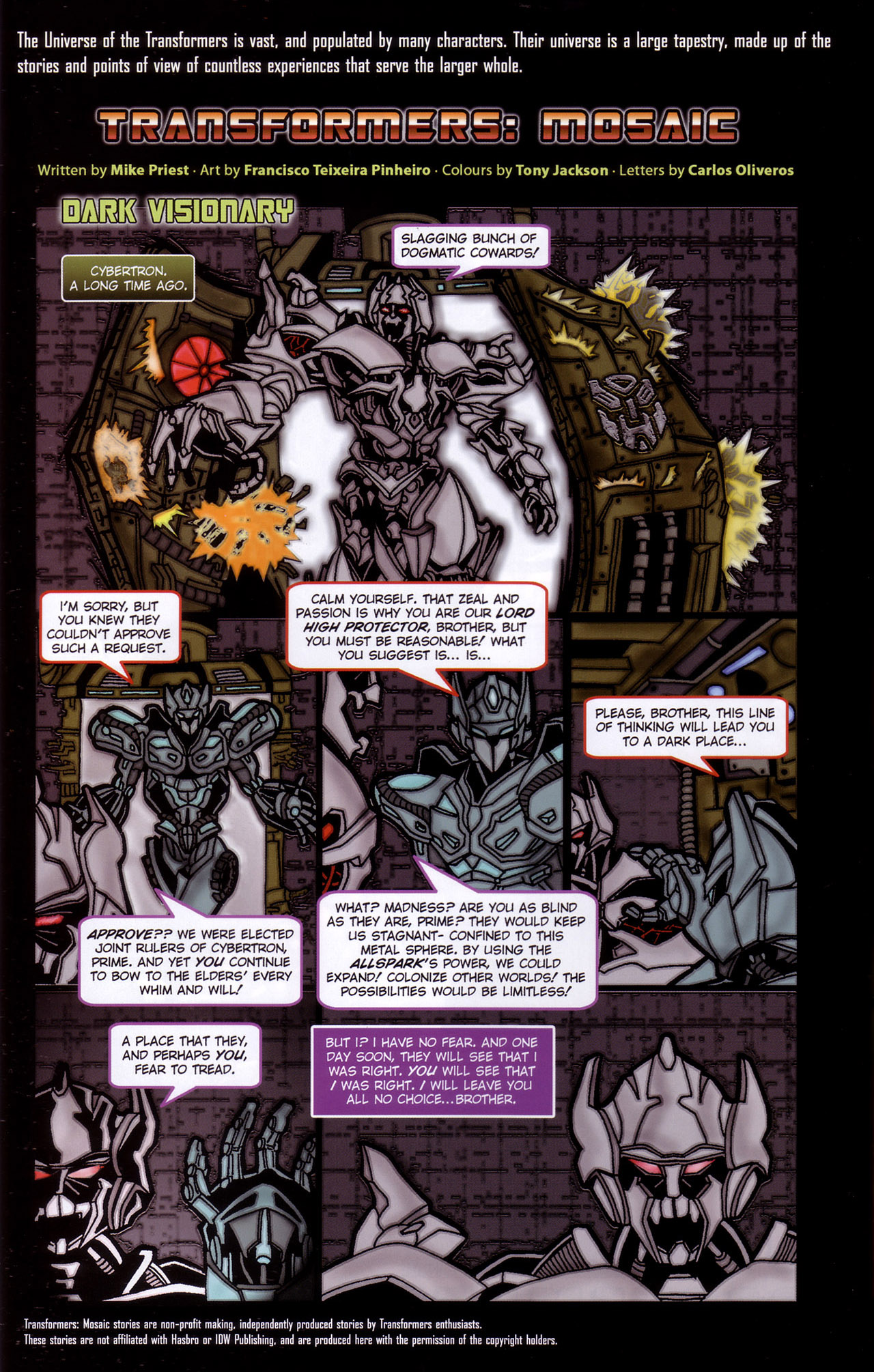 Read online Transformers: Saga of the Allspark comic -  Issue #2 - 25