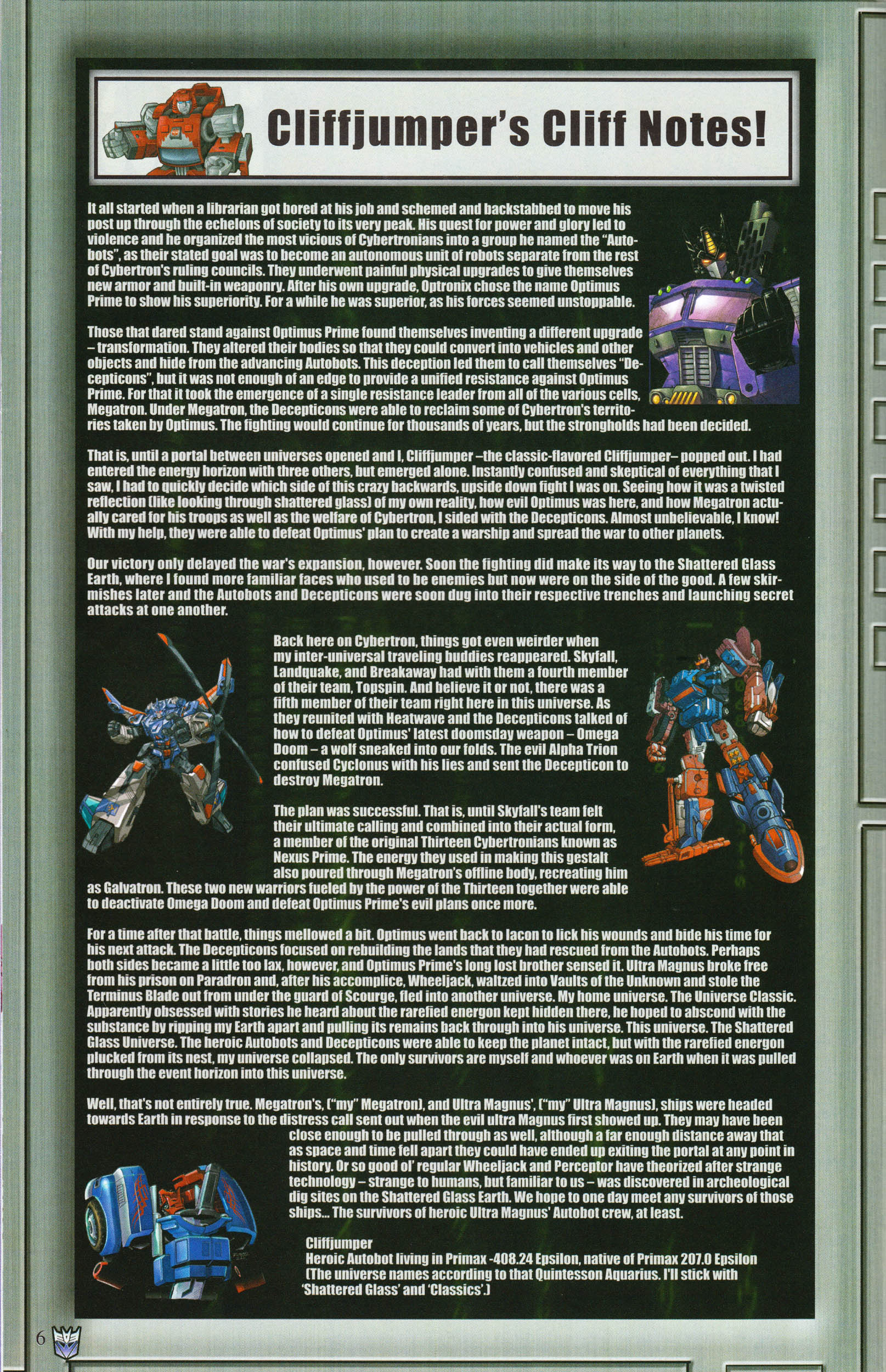 Read online Transformers: Collectors' Club comic -  Issue #61 - 6