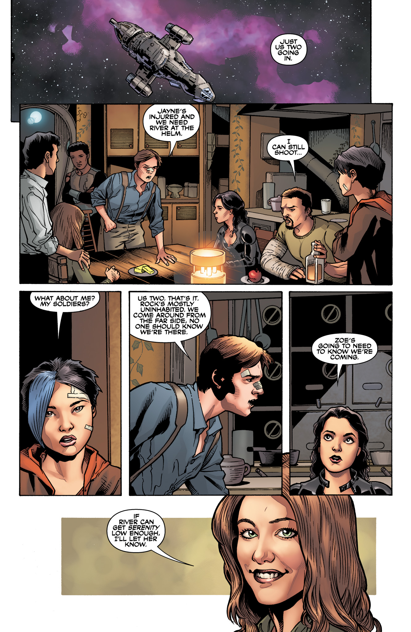 Read online Serenity: Firefly Class 03-K64  Leaves on the Wind comic -  Issue #6 - 7