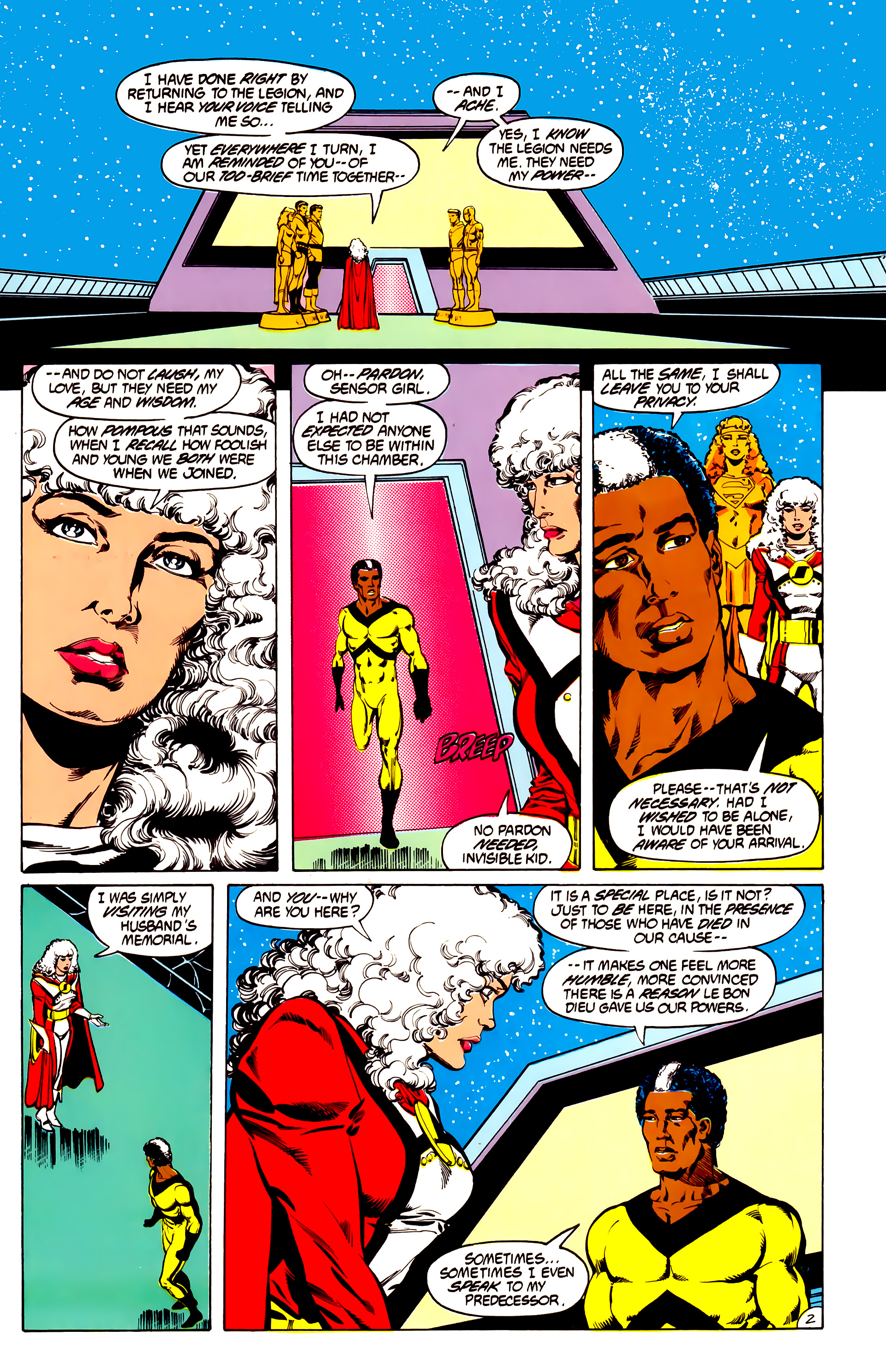 Legion of Super-Heroes (1984) 31 Page 2