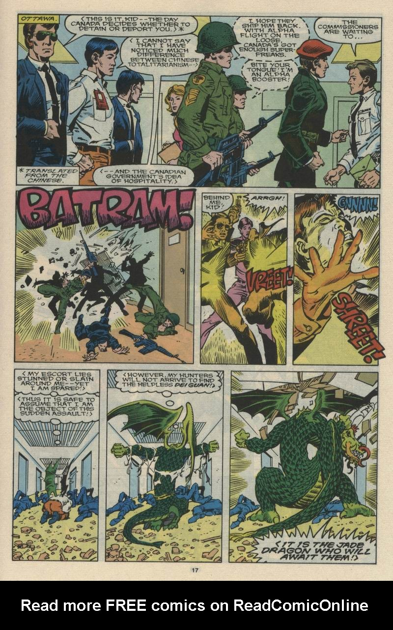 Read online Alpha Flight (1983) comic -  Issue #66 - 18
