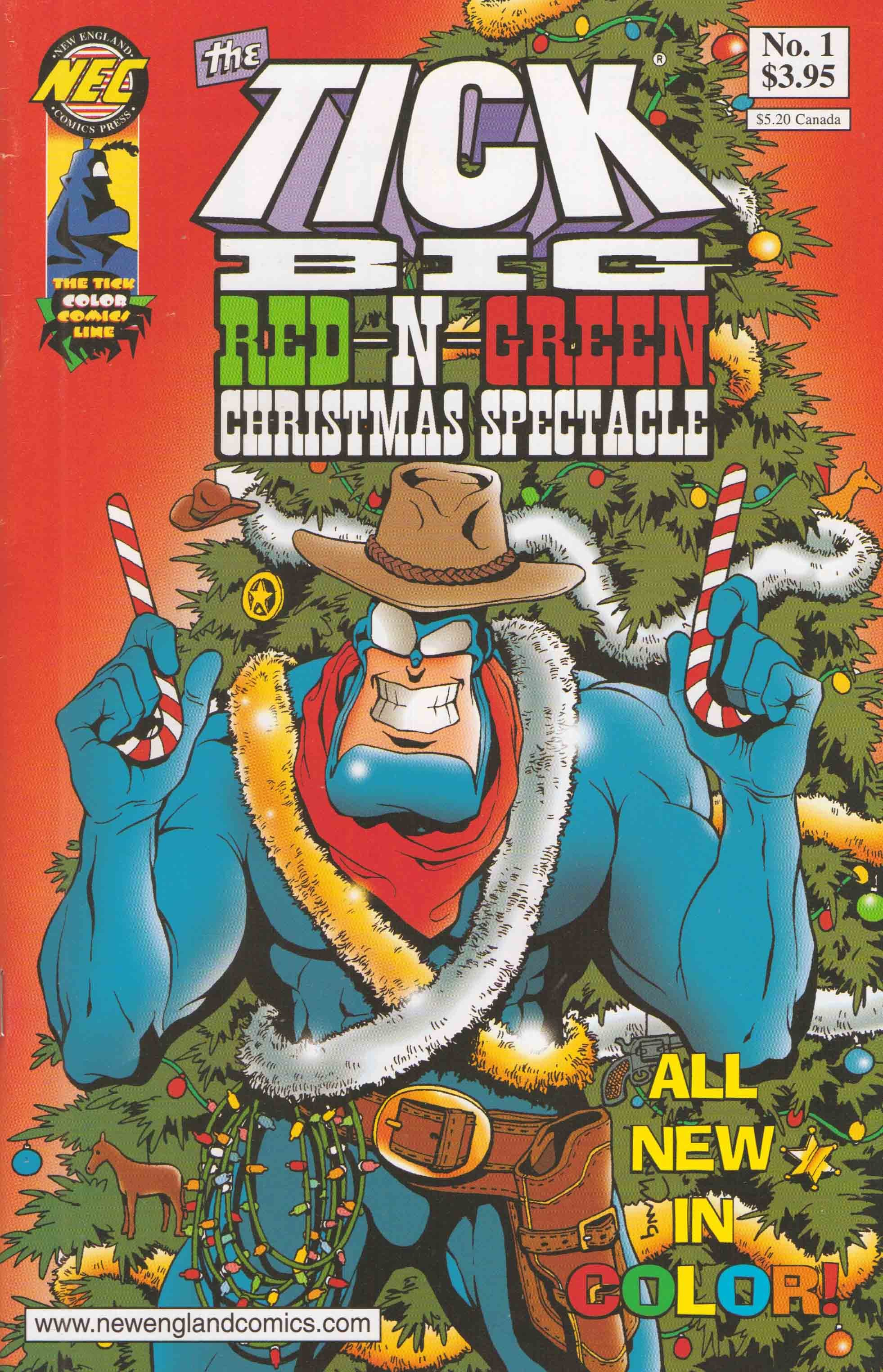 The Tick: Big Red-N-Green Christmas Spectacle issue Full - Page 1