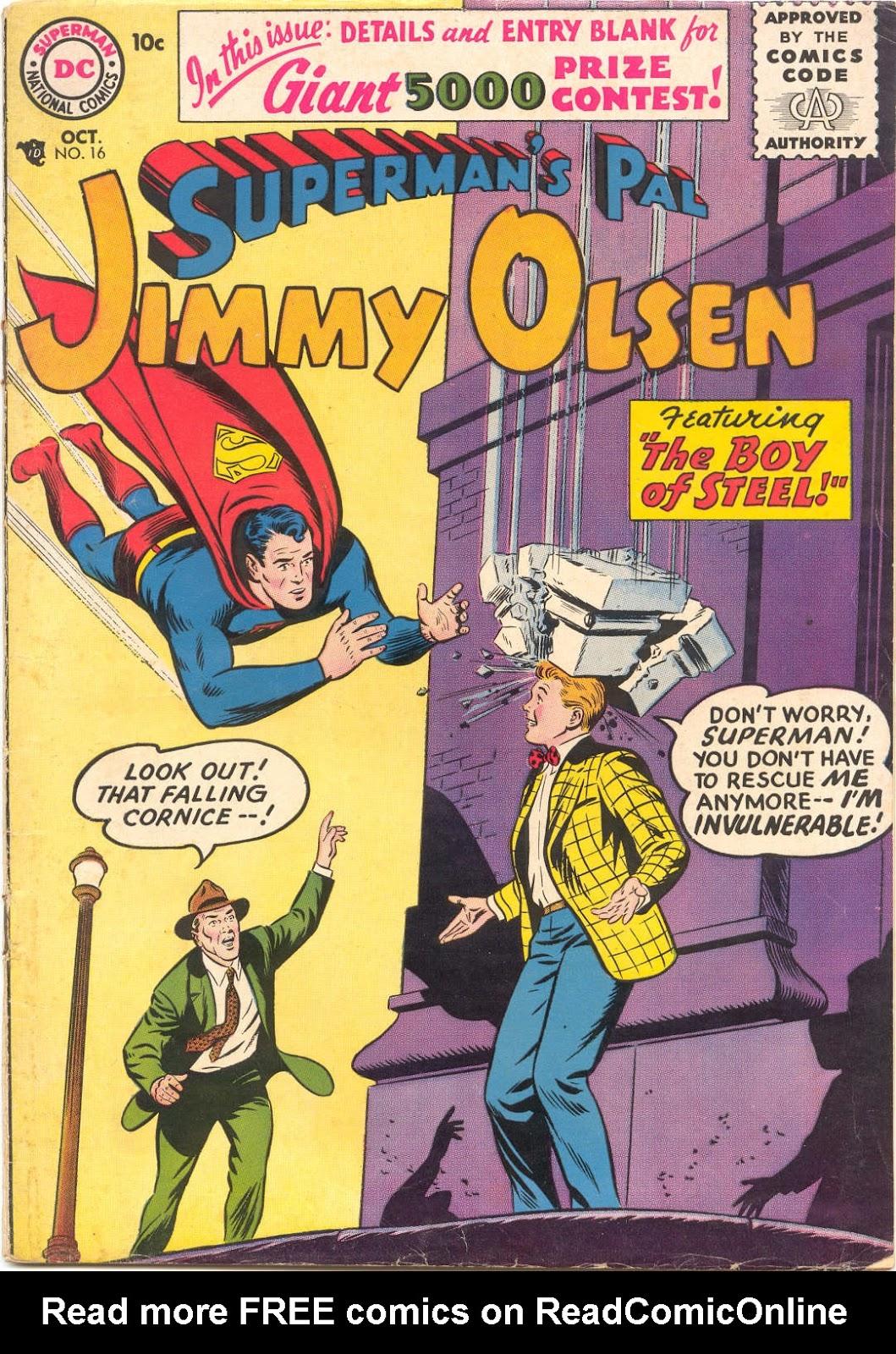 Supermans Pal Jimmy Olsen (1954) 16 Page 1