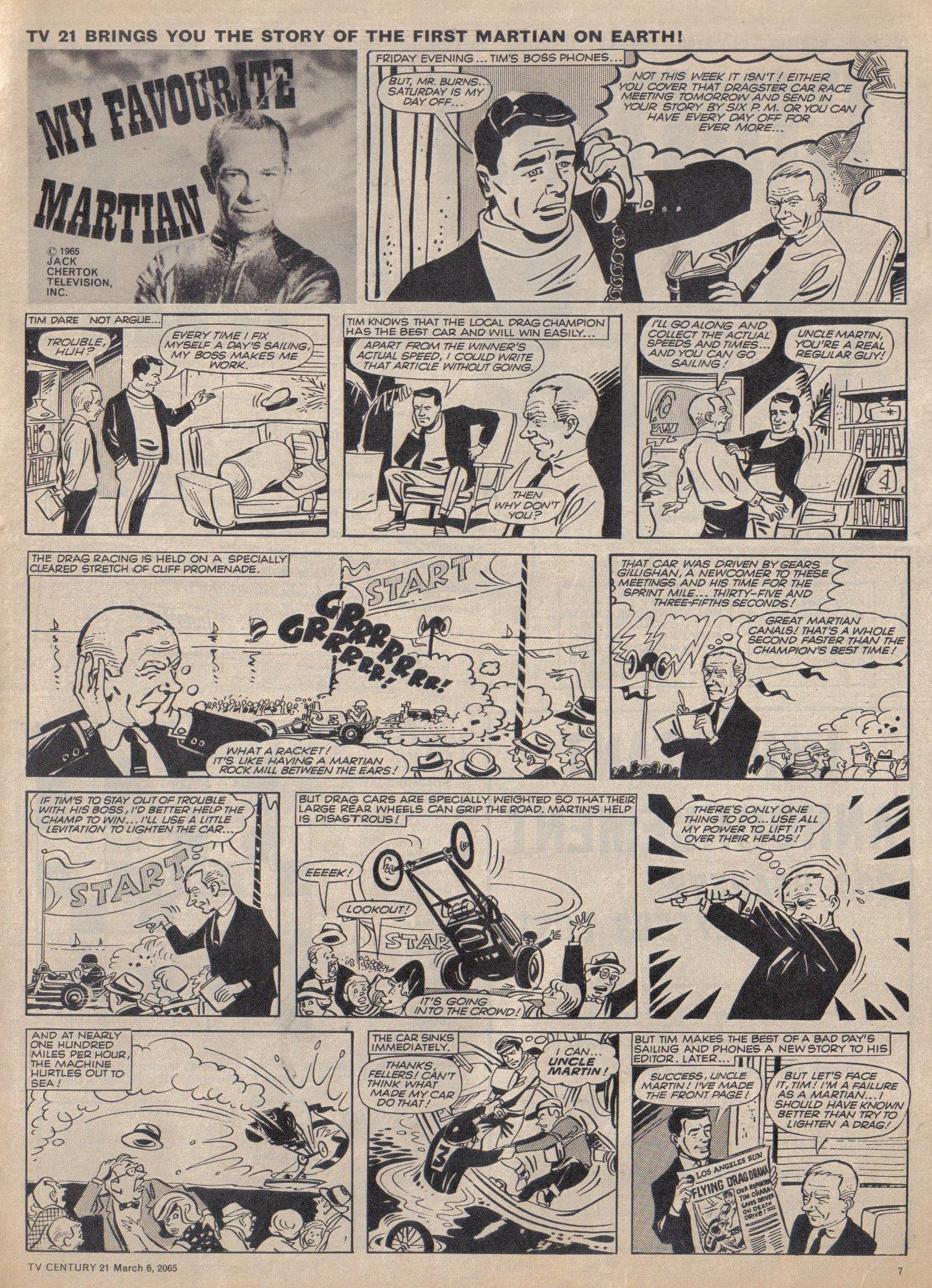 Read online TV Century 21 (TV 21) comic -  Issue #7 - 7