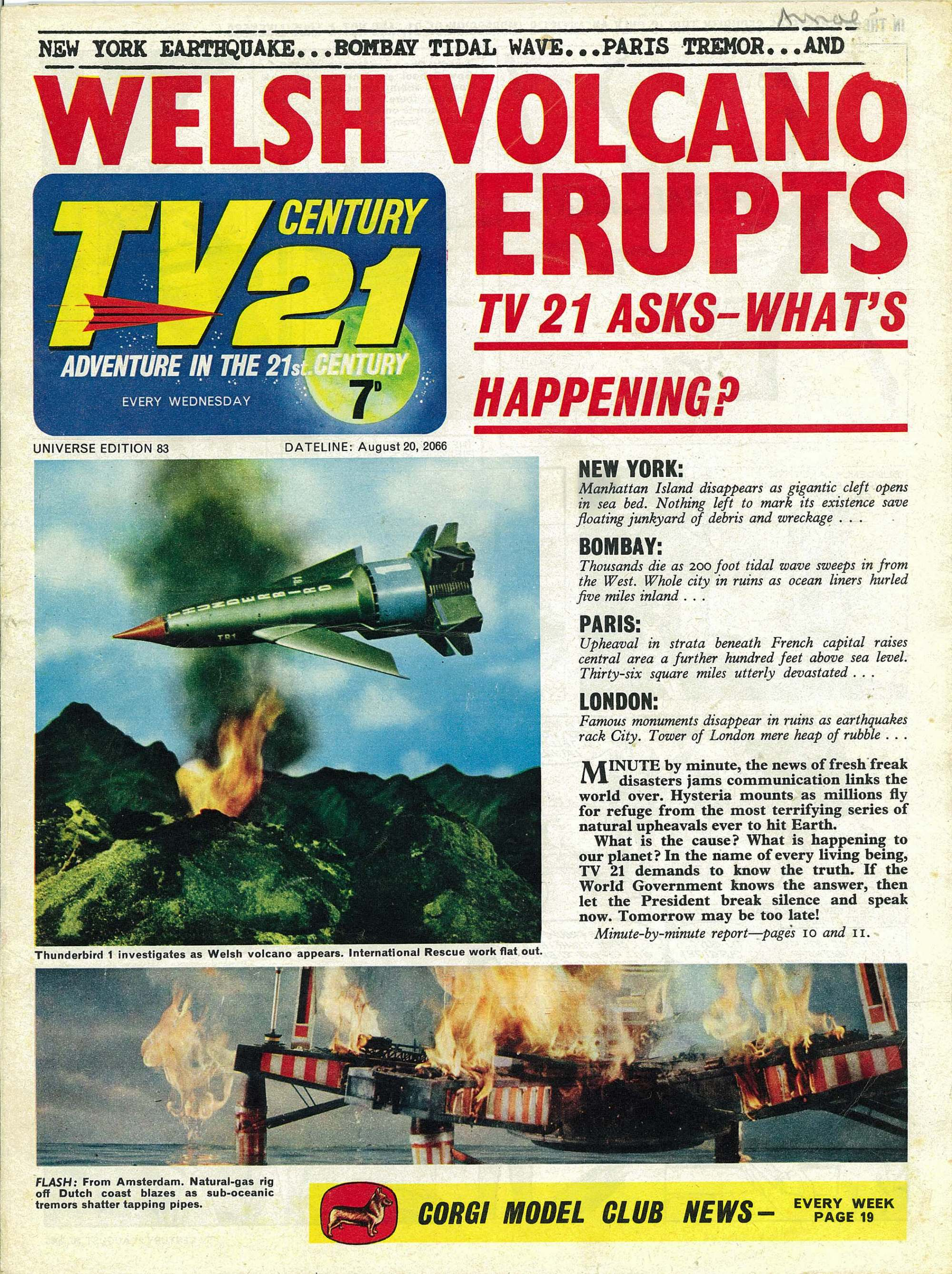 Read online TV Century 21 (TV 21) comic -  Issue #83 - 1