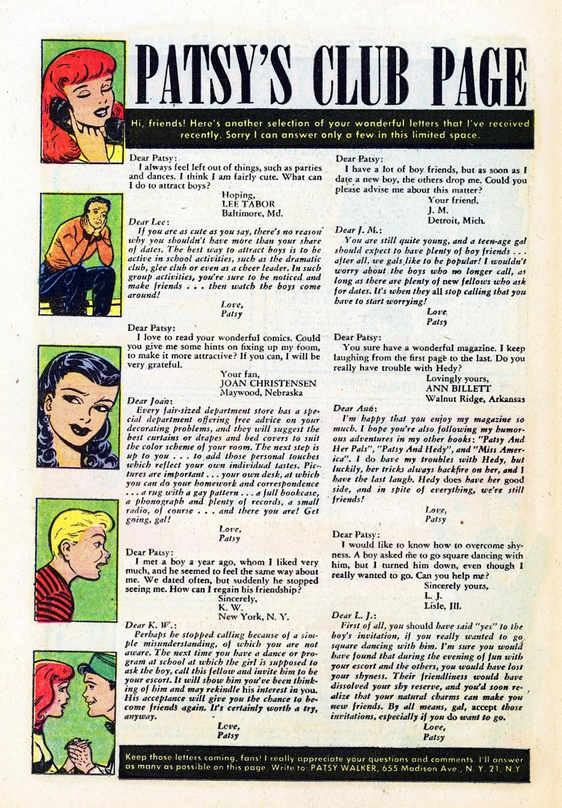 Read online Patsy Walker comic -  Issue #58 - 26