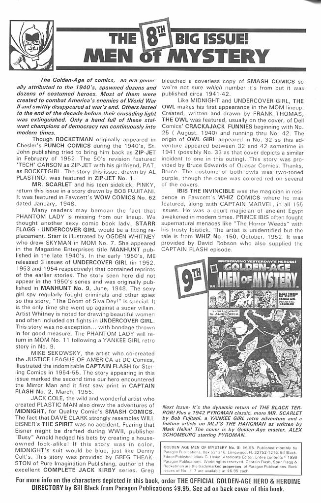 Read online Golden-Age Men of Mystery comic -  Issue #8 - 2
