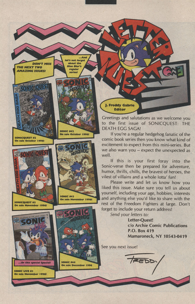 Read online Sonic Quest - The Death Egg Saga comic -  Issue #1 - 32