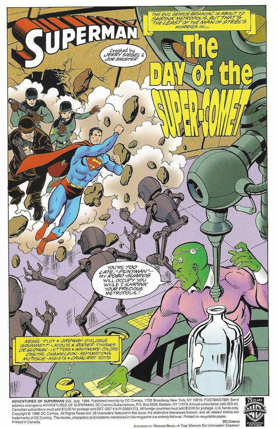 Read online Adventures of Superman (1987) comic -  Issue #559 - 2