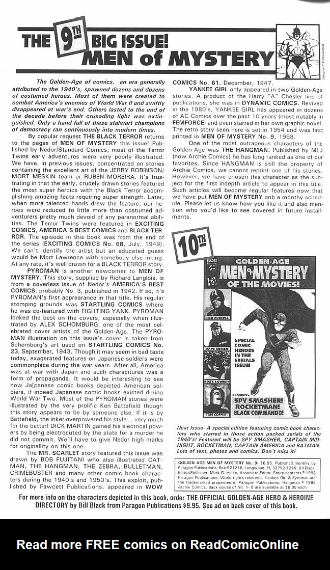 Read online Golden-Age Men of Mystery comic -  Issue #9 - 2