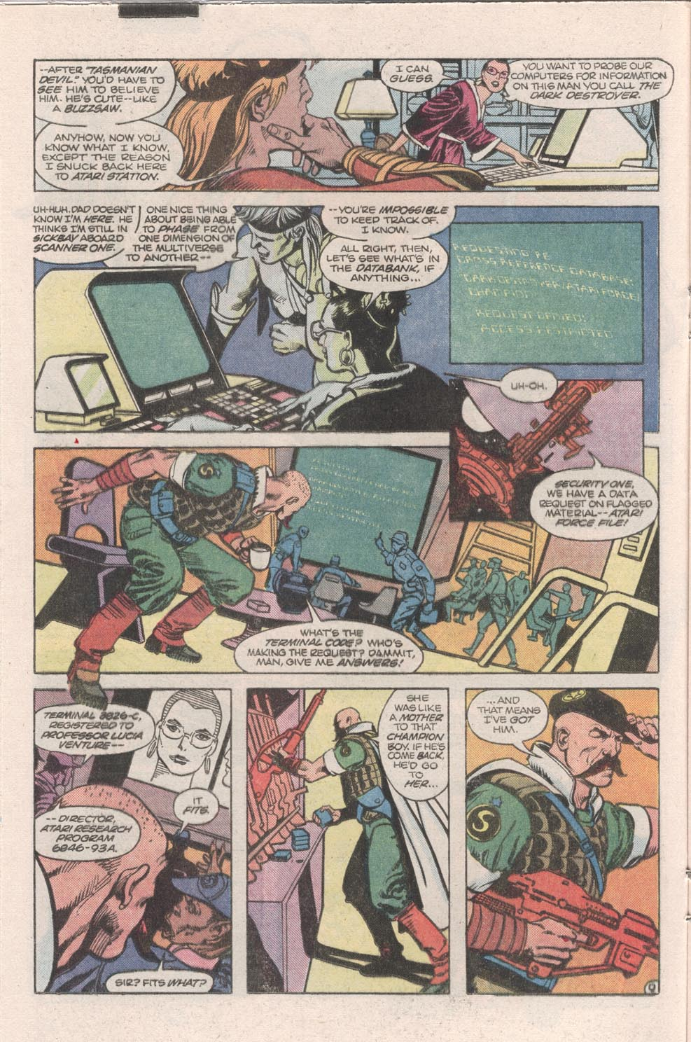 Read online Atari Force (1984) comic -  Issue #9 - 10