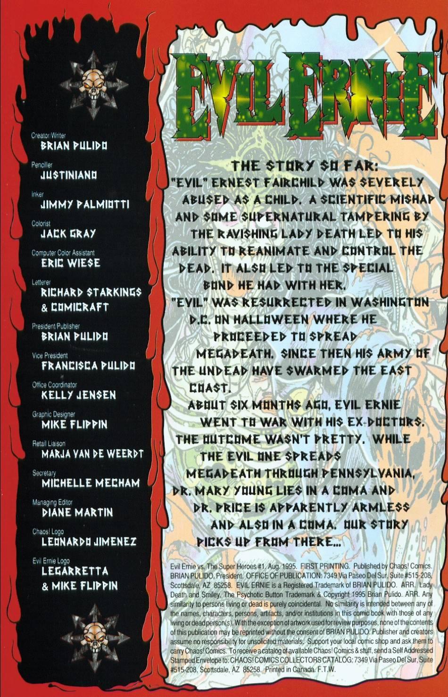 Read online Evil Ernie vs. the Superheroes comic -  Issue #1 - 2