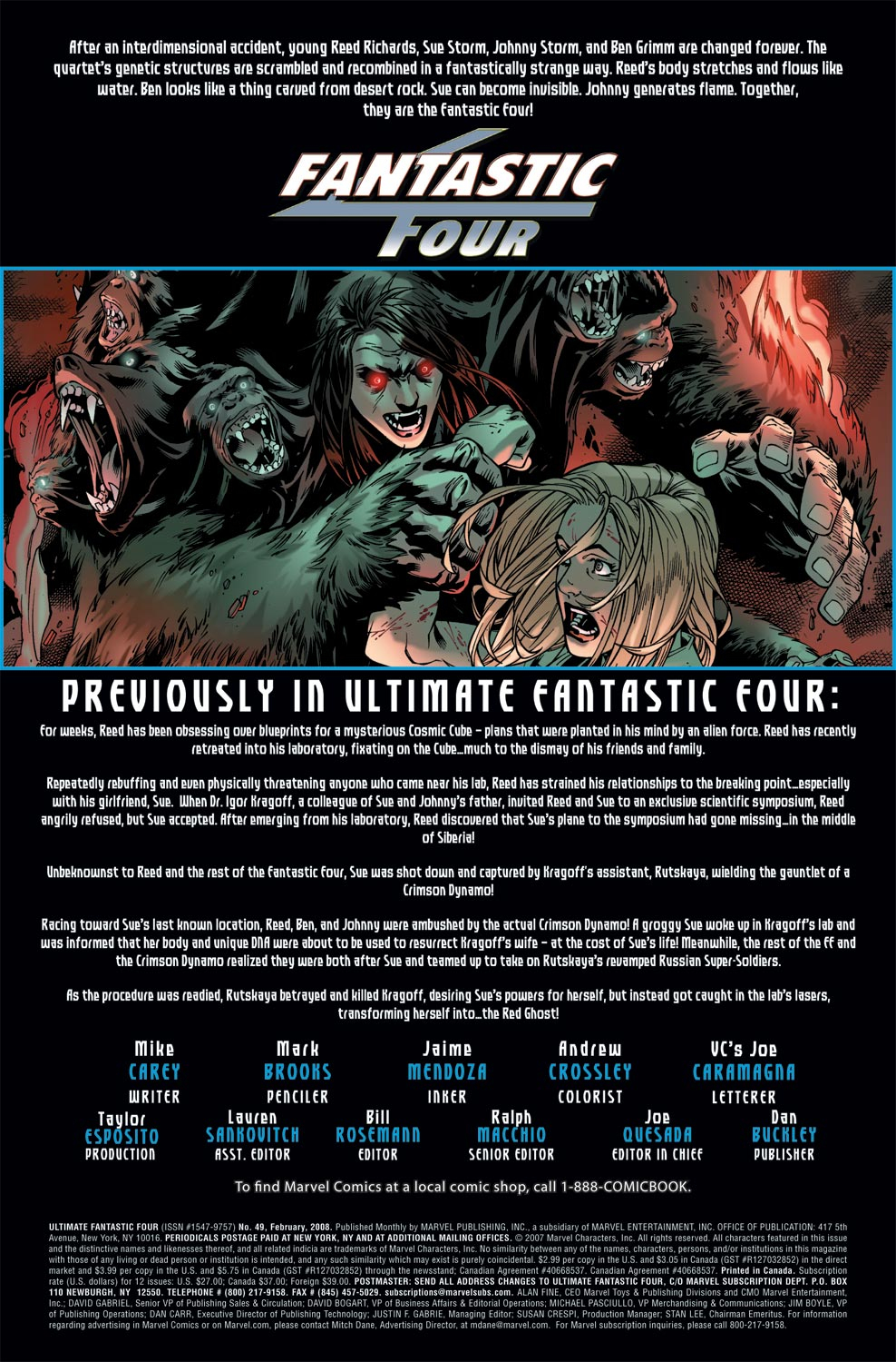 Read online Ultimate Fantastic Four (2004) comic -  Issue #49 - 2