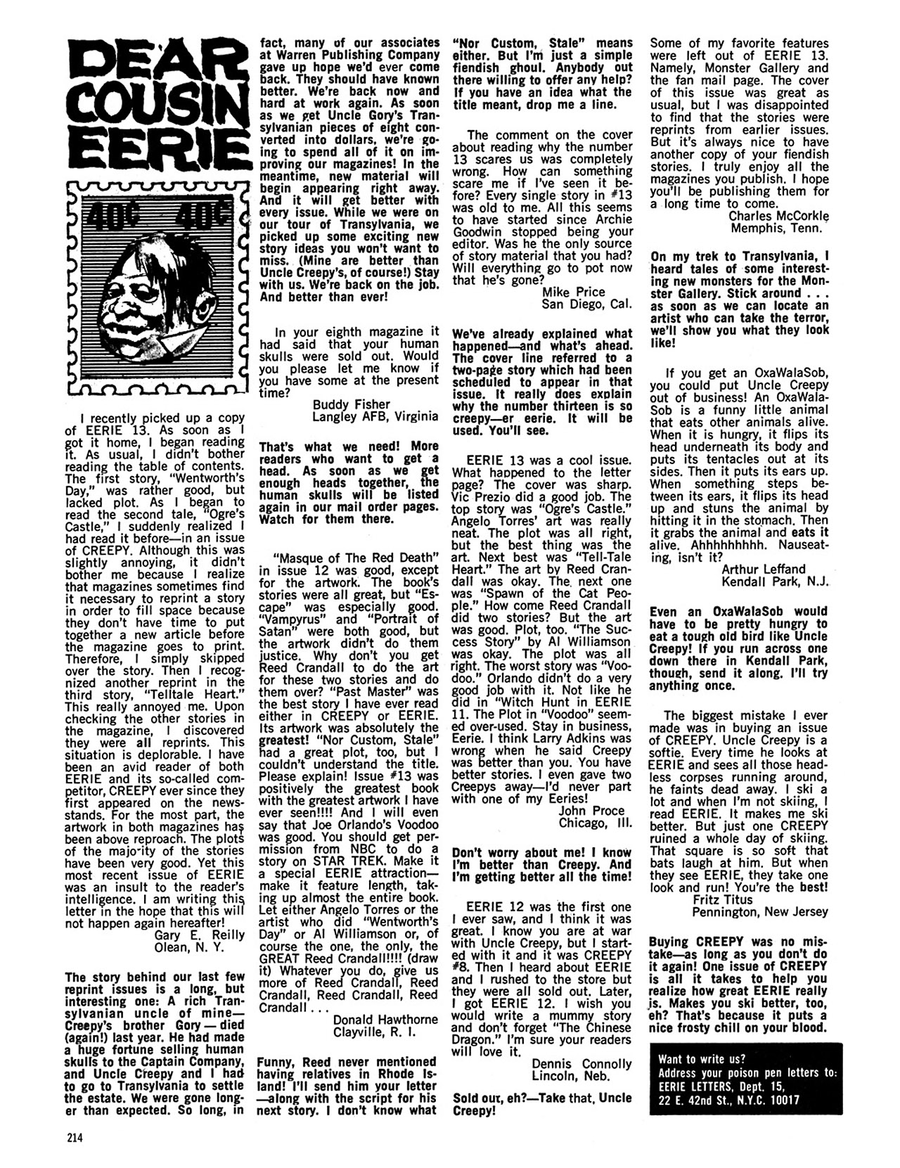 Read online Eerie Archives comic -  Issue # TPB 3 - 215