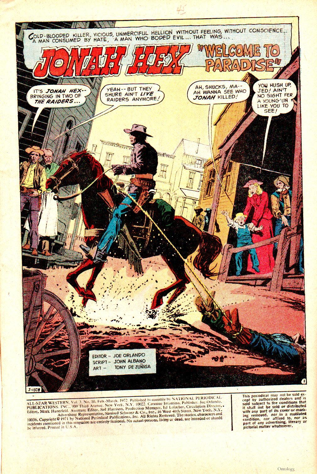 Read online All-Star Western (1970) comic -  Issue #10 - 3