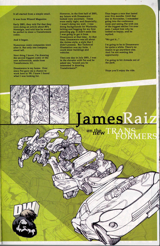 Read online Transformers Armada comic -  Issue #0 - 13