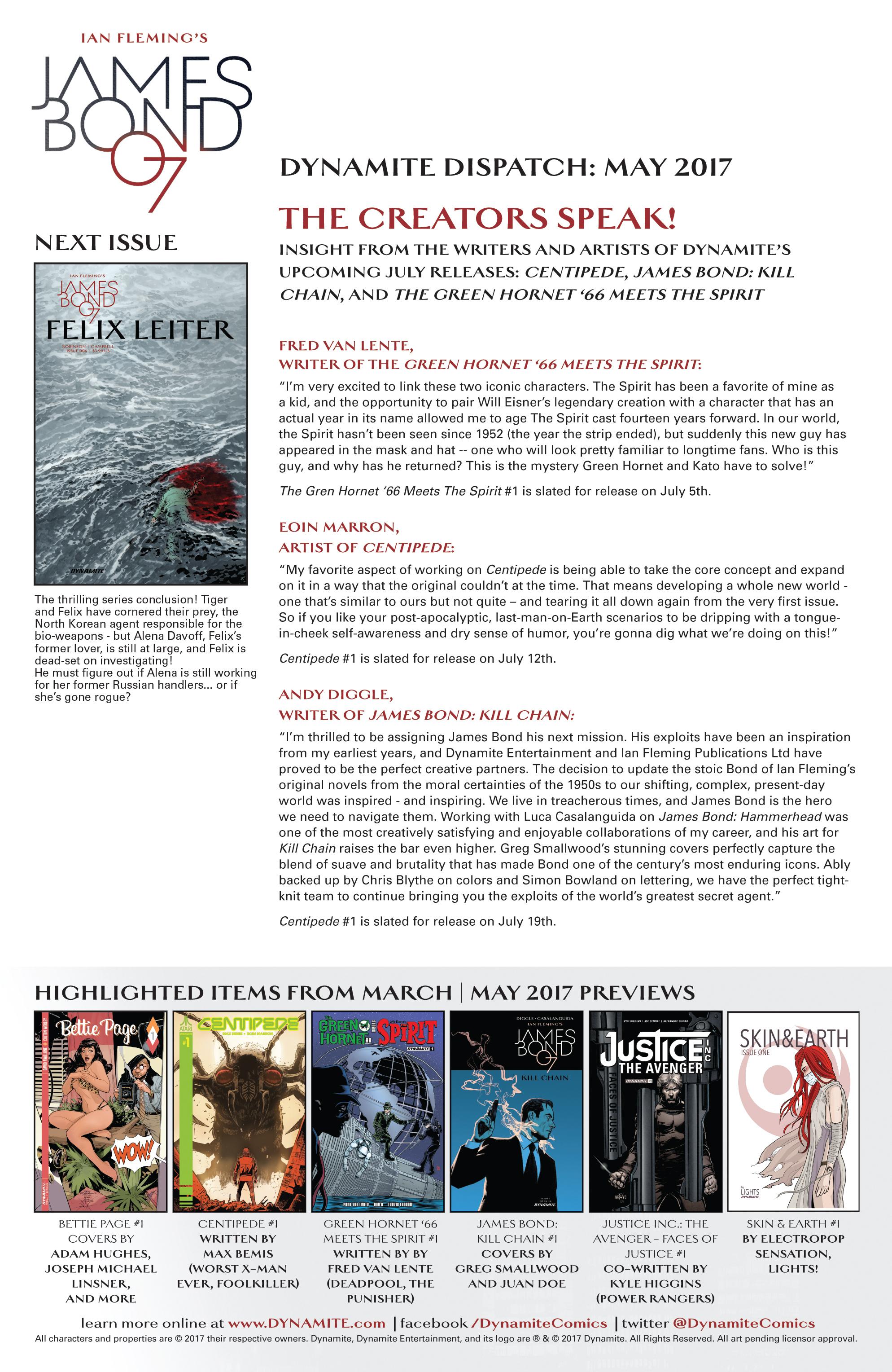 Read online James Bond: Felix Leiter comic -  Issue #5 - 21