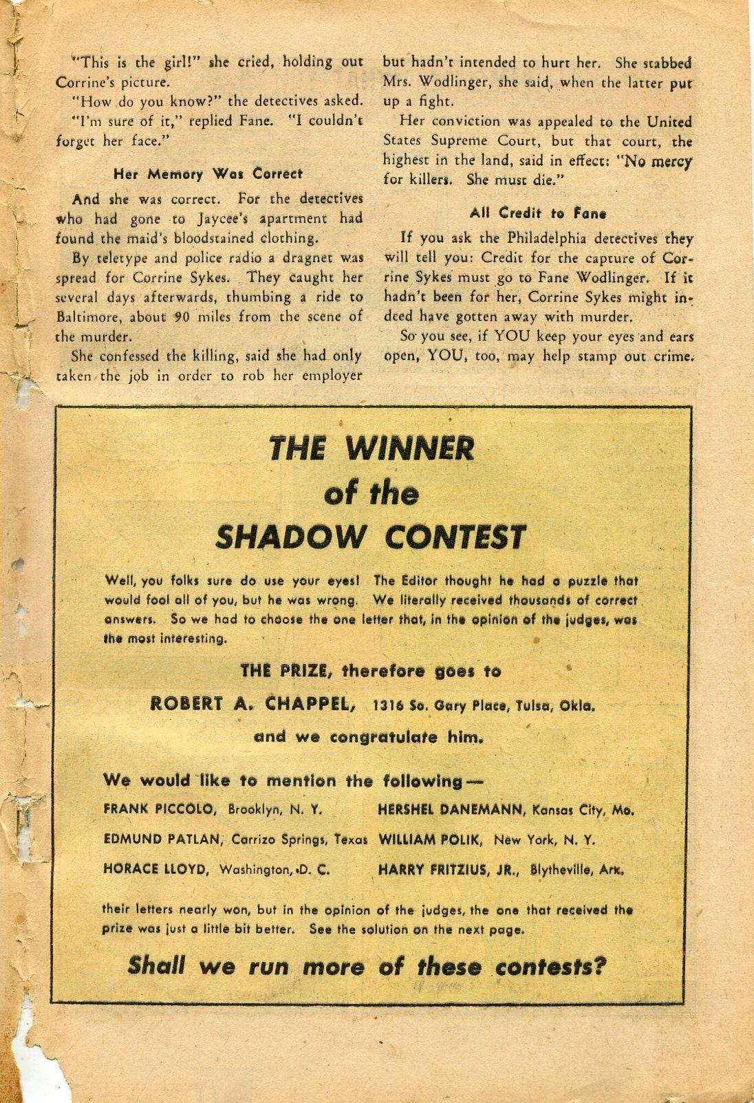 Read online Shadow Comics comic -  Issue #82 - 49
