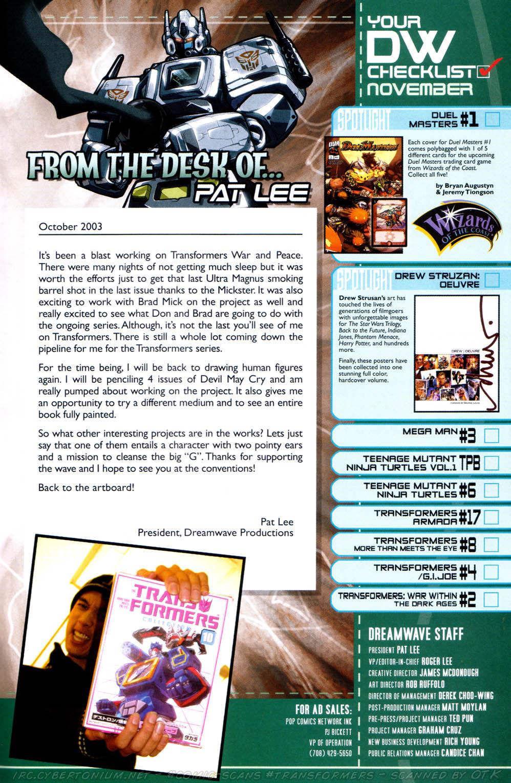 Read online Transformers Armada comic -  Issue #17 - 27