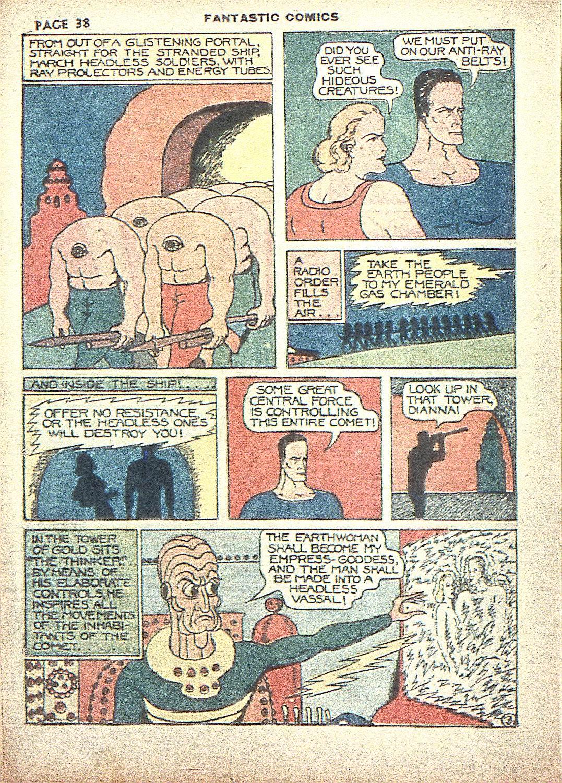 Read online Fantastic Comics comic -  Issue #4 - 39