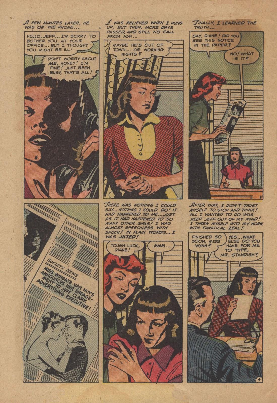 Love Romances (1949) issue 28 - Page 6