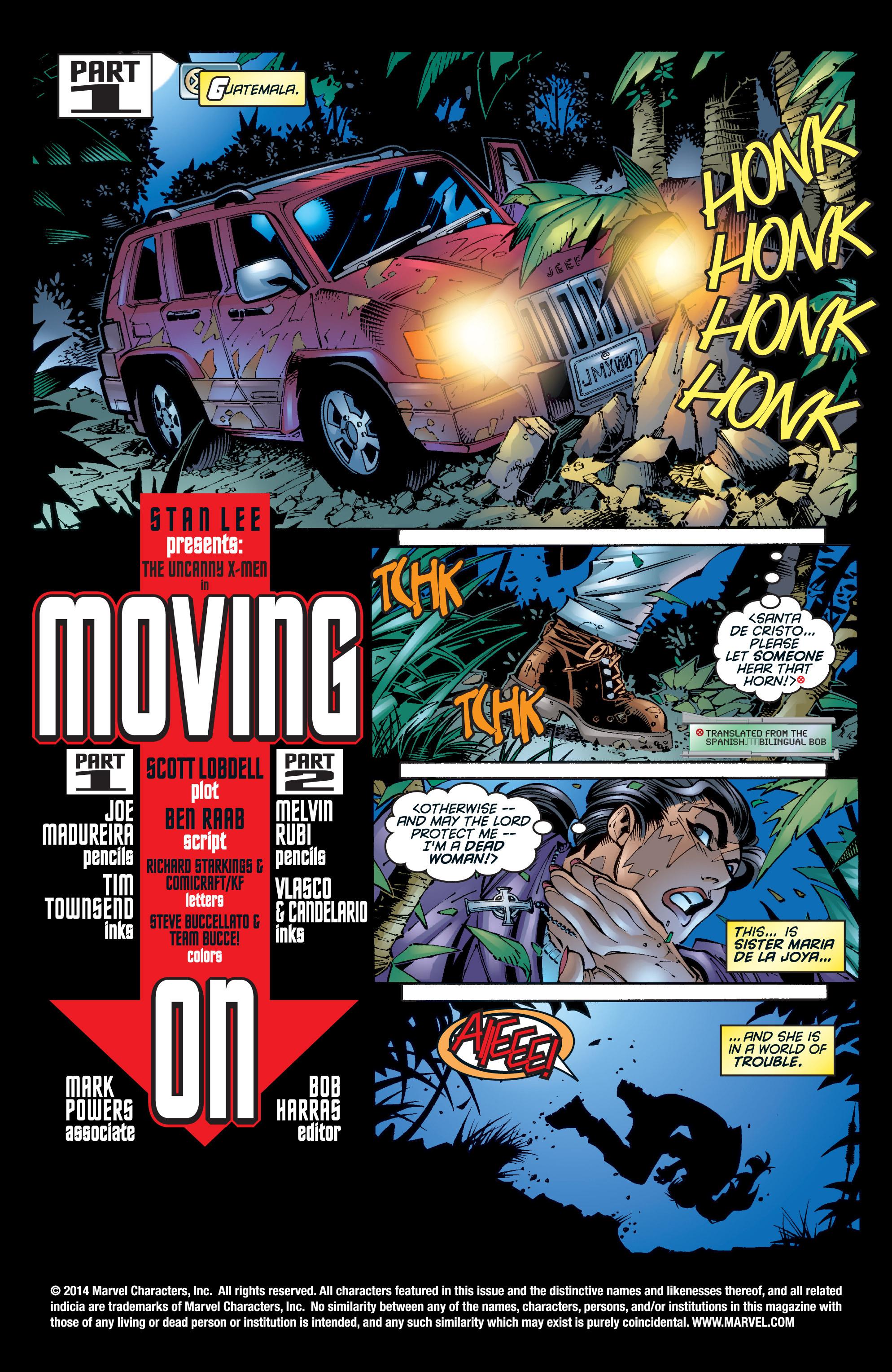 Read online Uncanny X-Men (1963) comic -  Issue #345 - 2